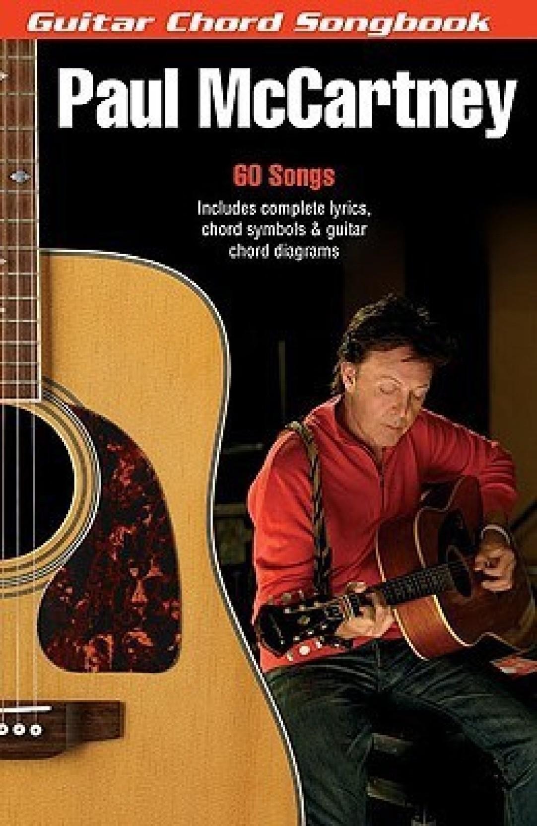 Paul Mccartney Guitar Chord Songbook 6 Inch X 9 Inch Guitar
