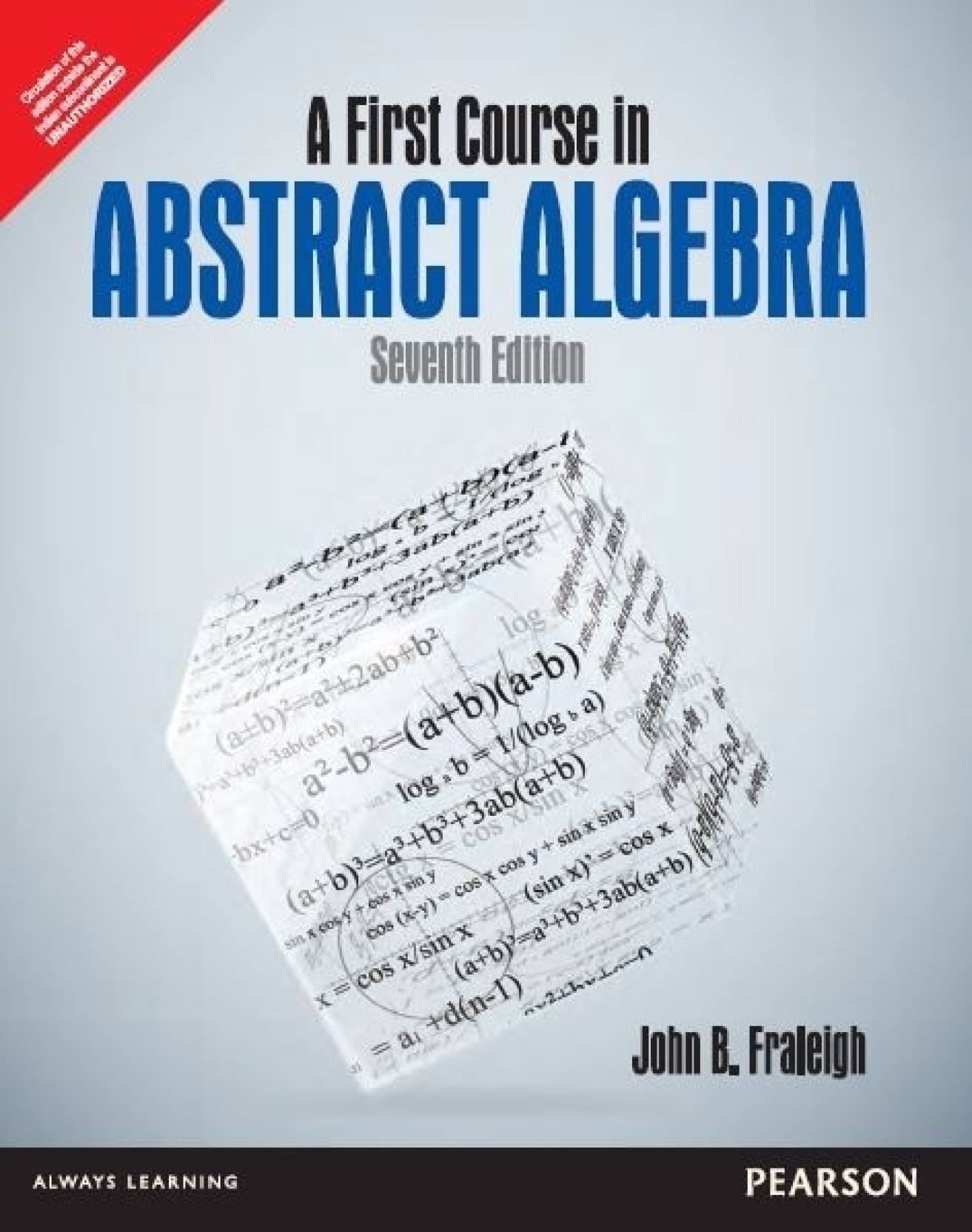 A First Course in Abstract Algebra 7th Edition. ADD TO CART