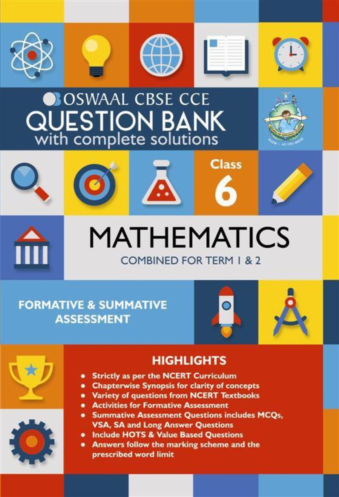 Oswaal CBSE CCE Question Banks Mathemaitcs For Class 6 1 Edition ...