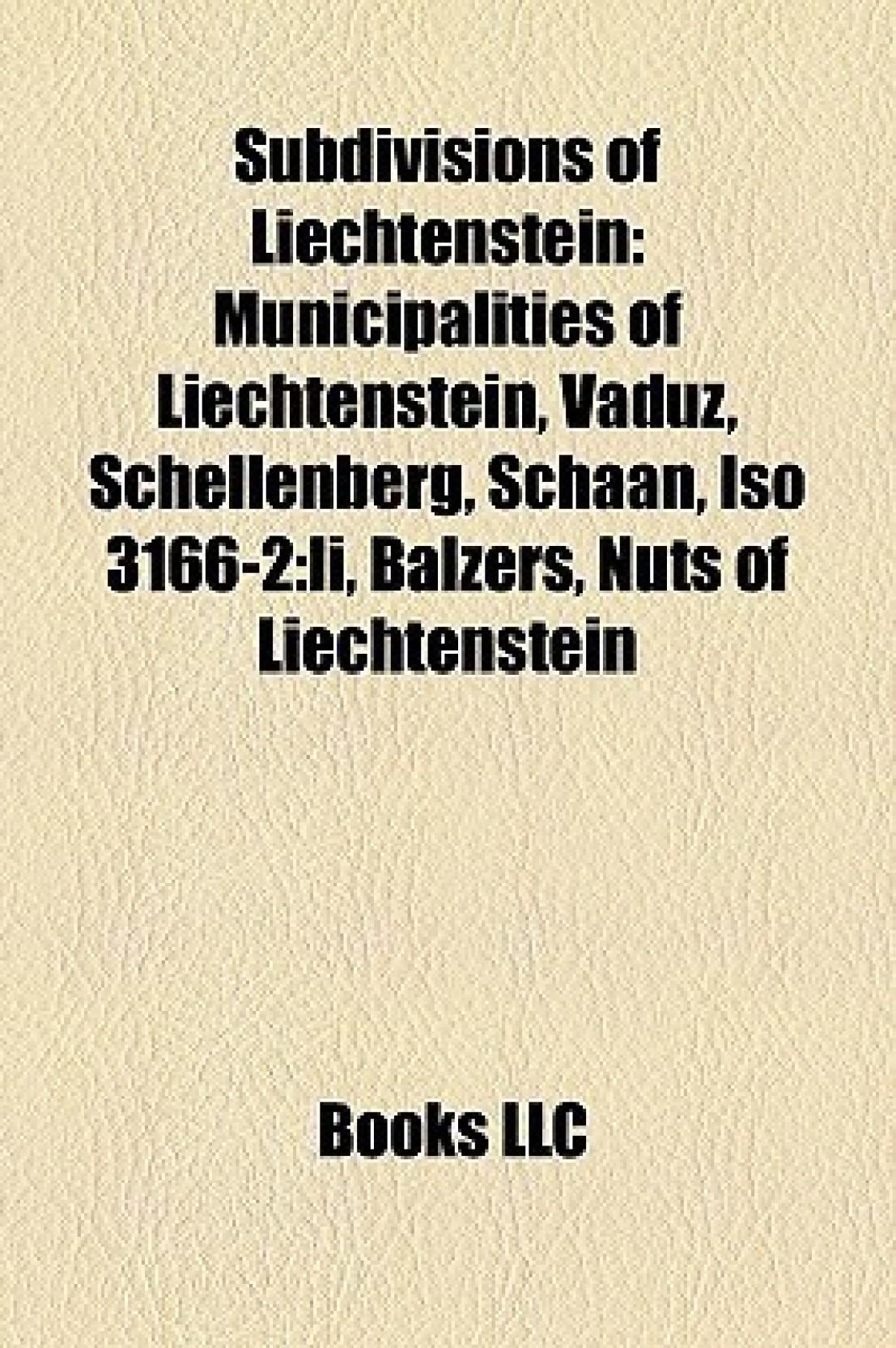 Subdivisions of Liechtenstein:...
