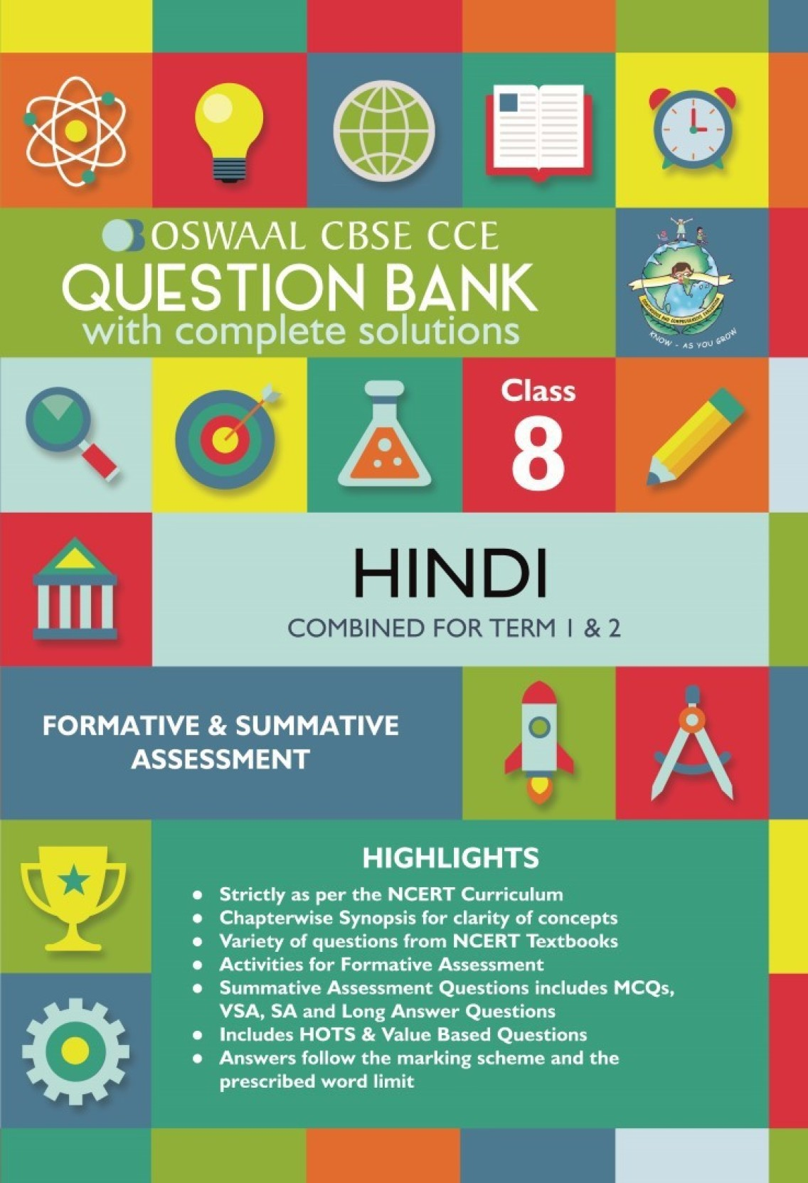 Oswaal CBSE CCE Question Banks Hindi For Class 8 1 Edition - Buy ...