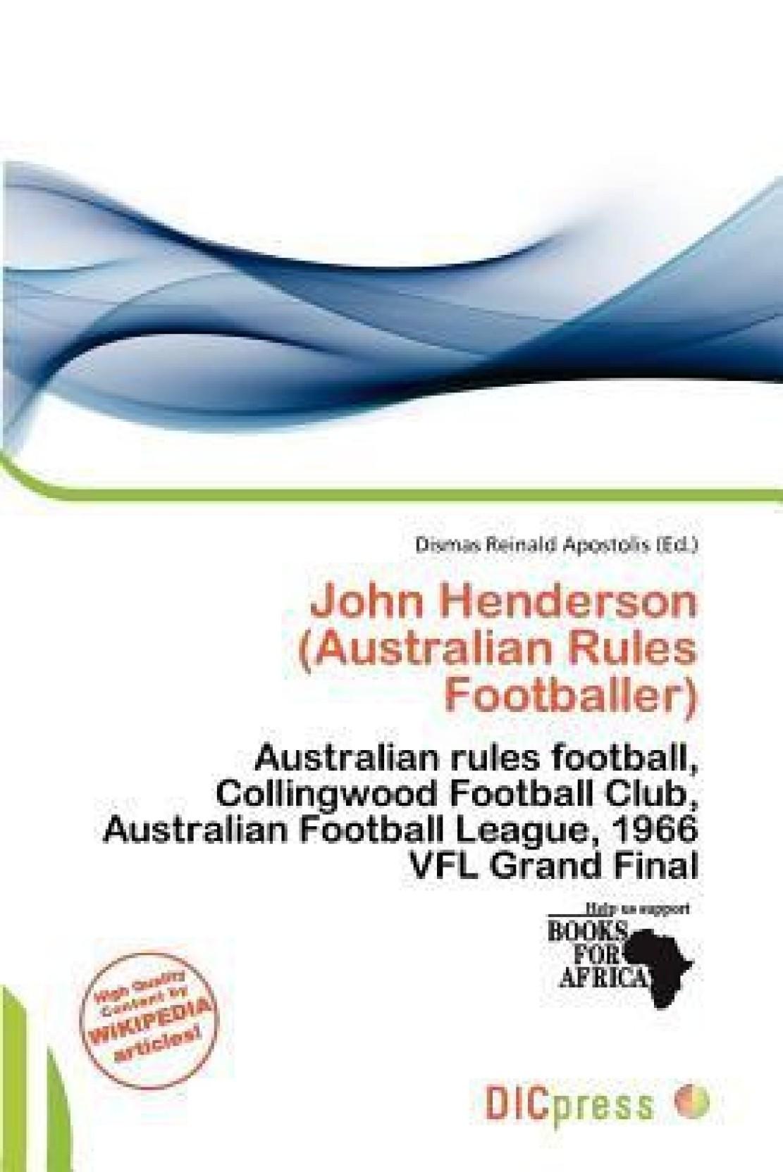 John Henderson Australian Rules Footballer Buy Wiring Book Share
