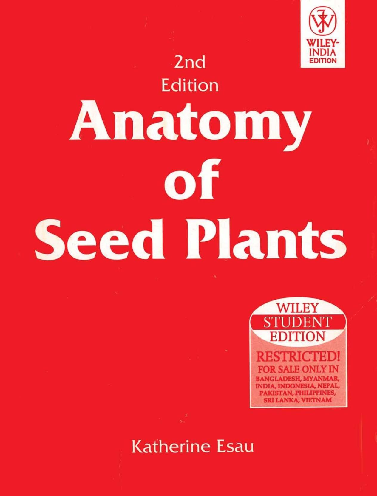 ANATOMY OF SEED PLANTS, 2ND ED 2nd ED Edition - Buy ANATOMY OF SEED ...