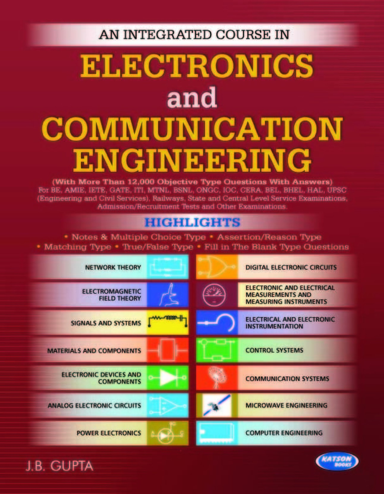 Integrated Course In Electronics And Communication Engineering Buy Analog Digital Circuits Question Bank Add To Cart