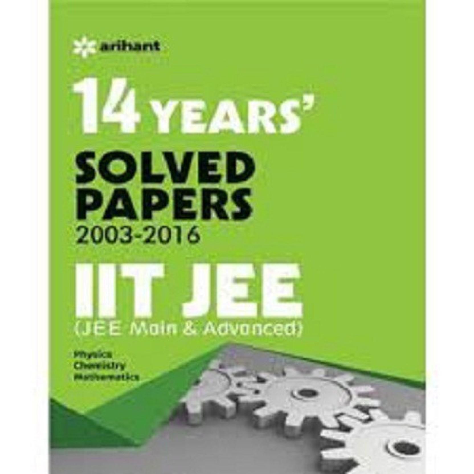 14 Years' (2002-2015) IIT JEE (JEE MAIN & ADVANCED). ADD TO CART