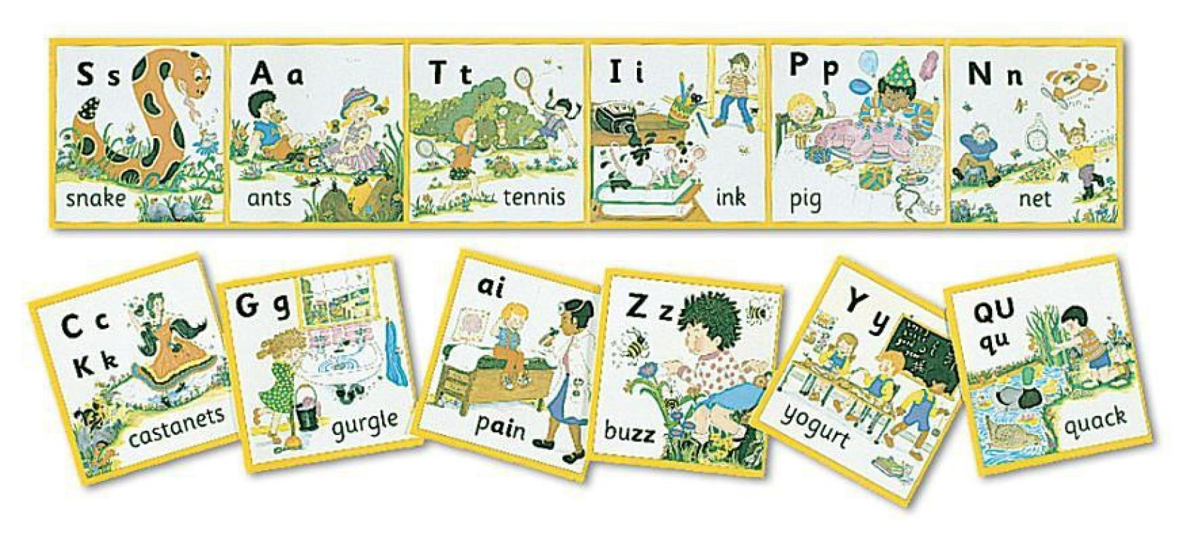 Itmdymcxsrne25qn on Alphabet Flashcards Wall Posters