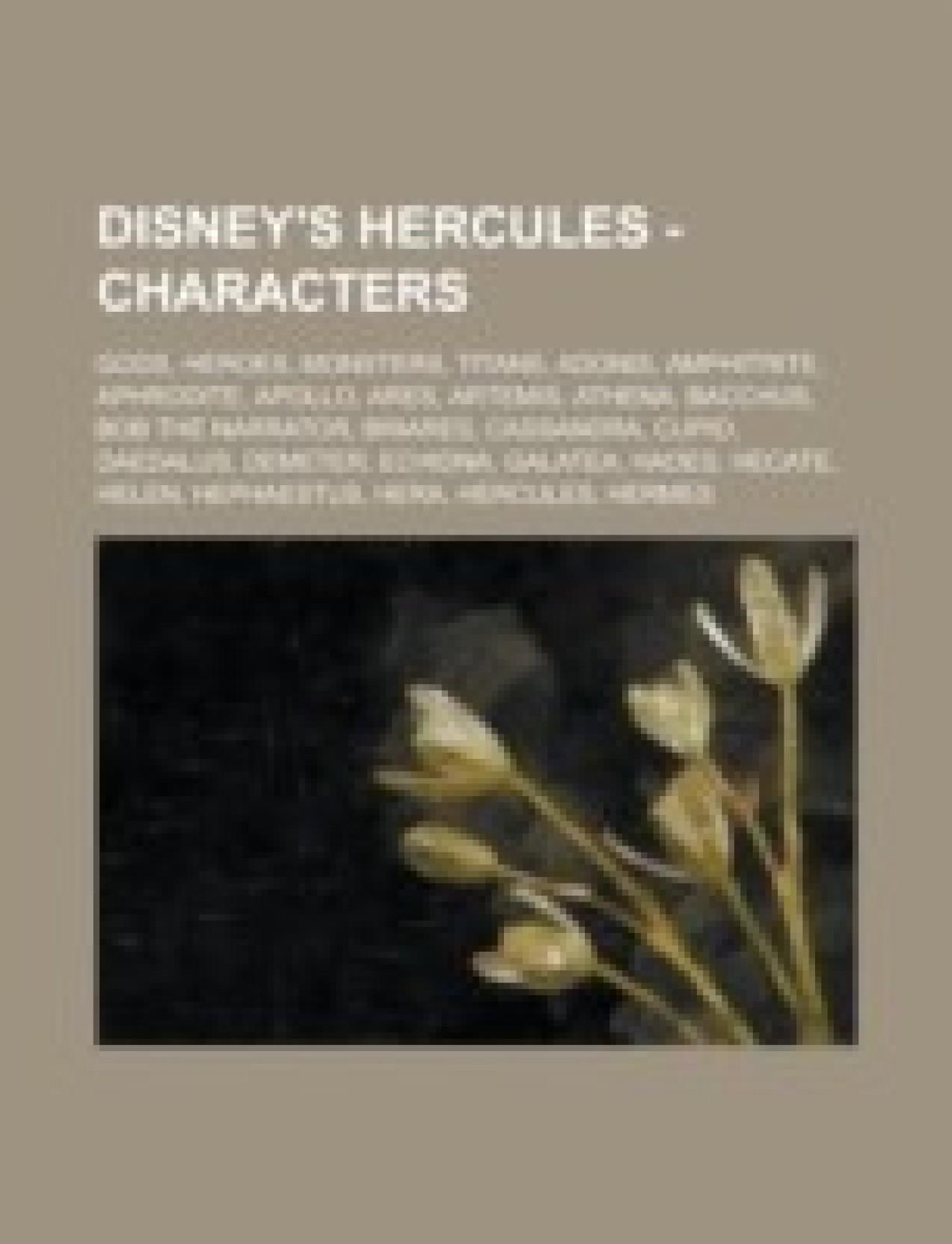 Disneys Hercules Characters Gods Heroes Monsters Titans