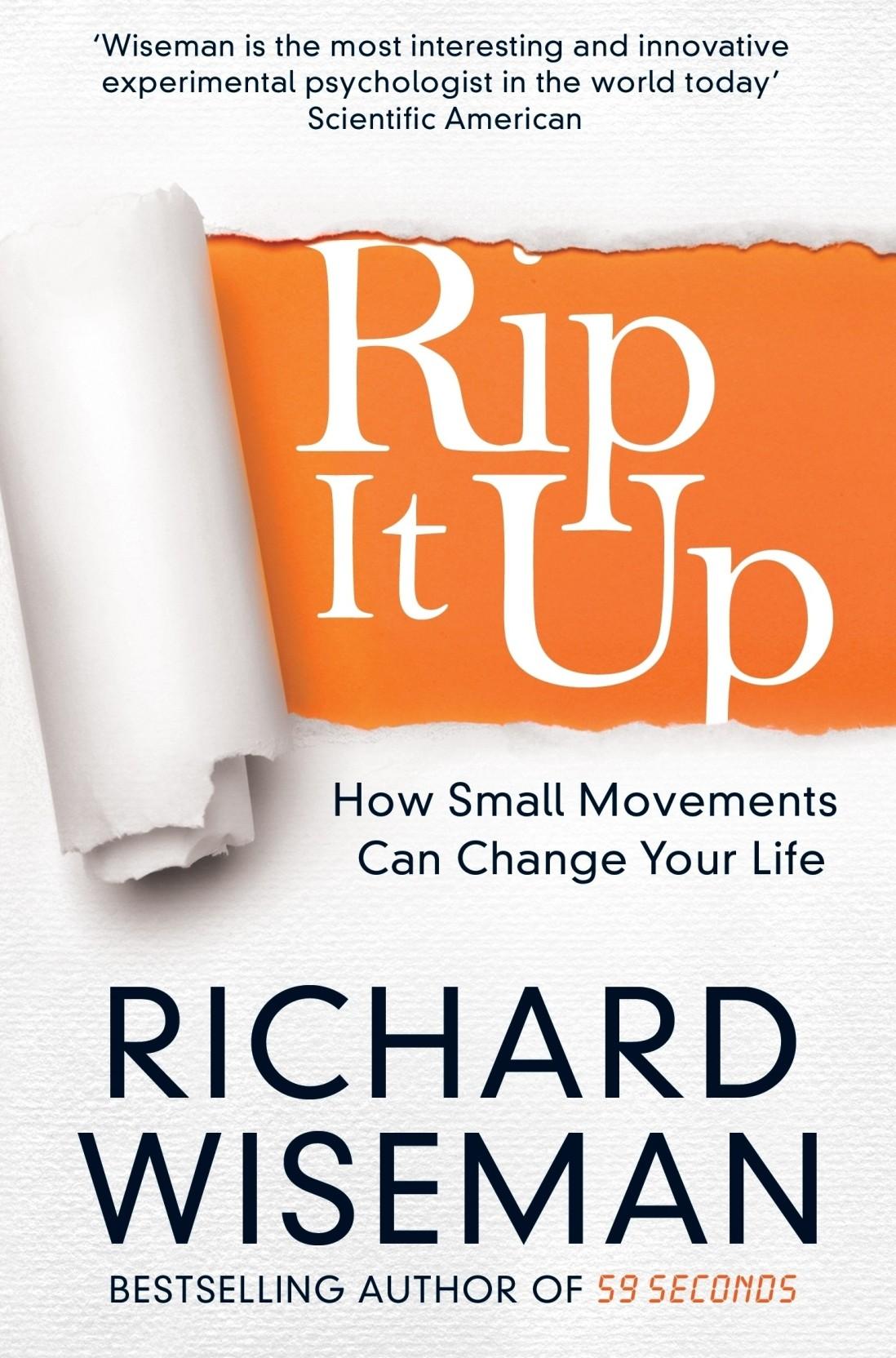 59 Seconds Richard Wiseman rip it up: buy rip it uprichard wiseman at low price in