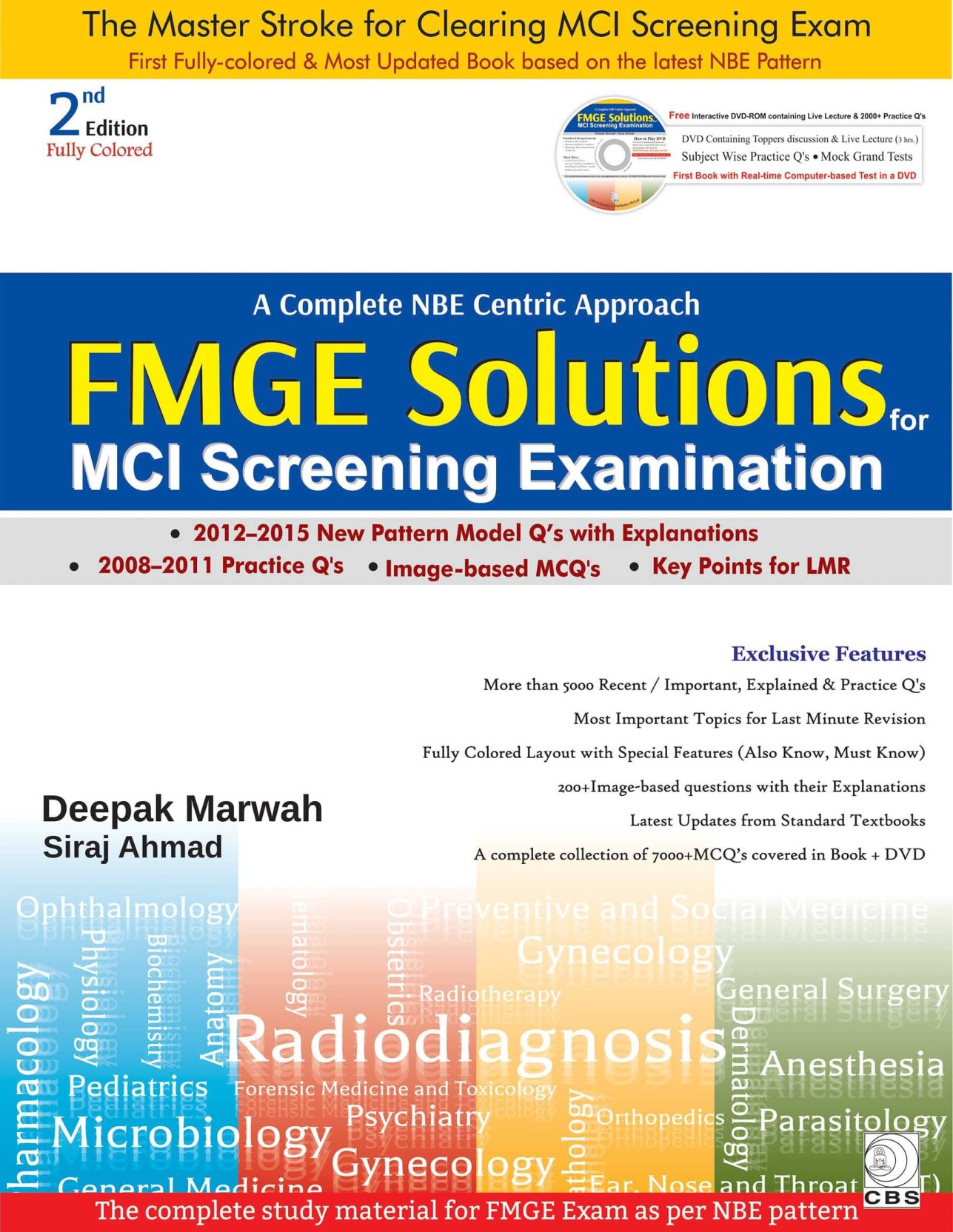 FMGE Solutions for MCI Screening Examination With DVD