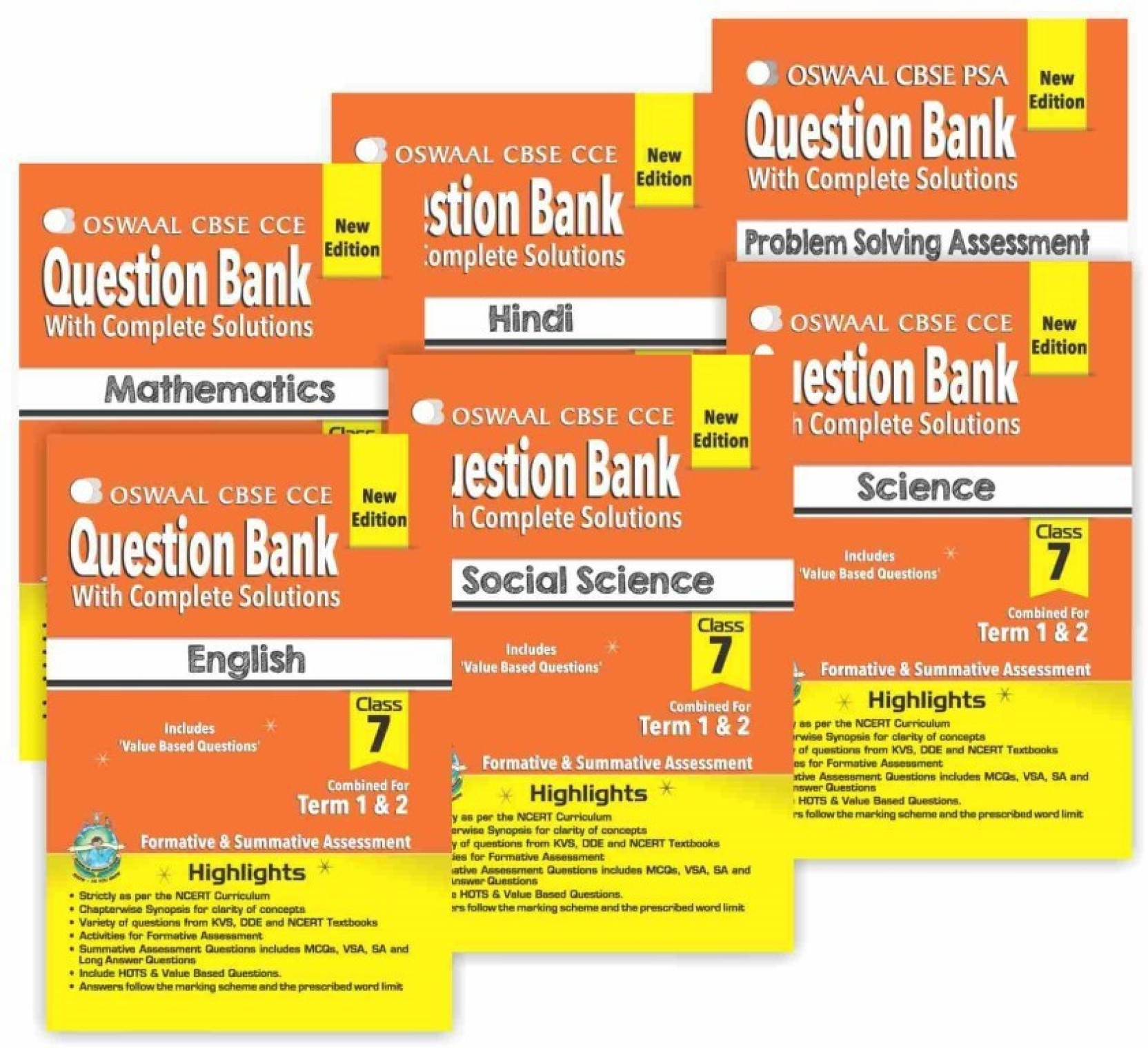 Oswaal CBSE CCE Question Banks for Hindi, English, Science