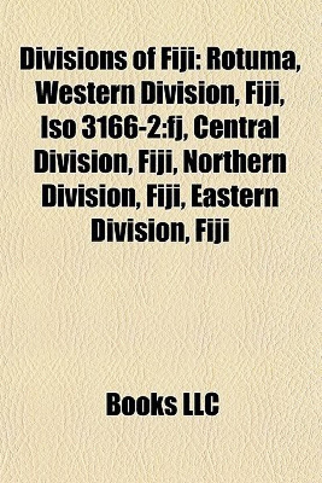 Divisions of Fiji: Rotuma, Wes...