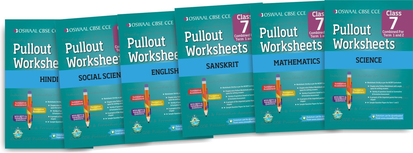 Oswaal CBSE CCE Pullout Worksheet Hindi, English, Math, Science ...