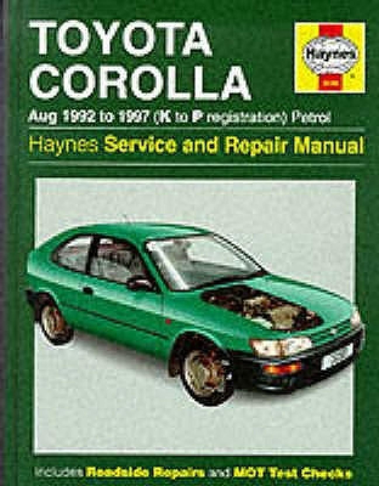 Toyota Corolla 1992-97 Service and Repair Manual (Haynes Service and Repair  Manuals). Share