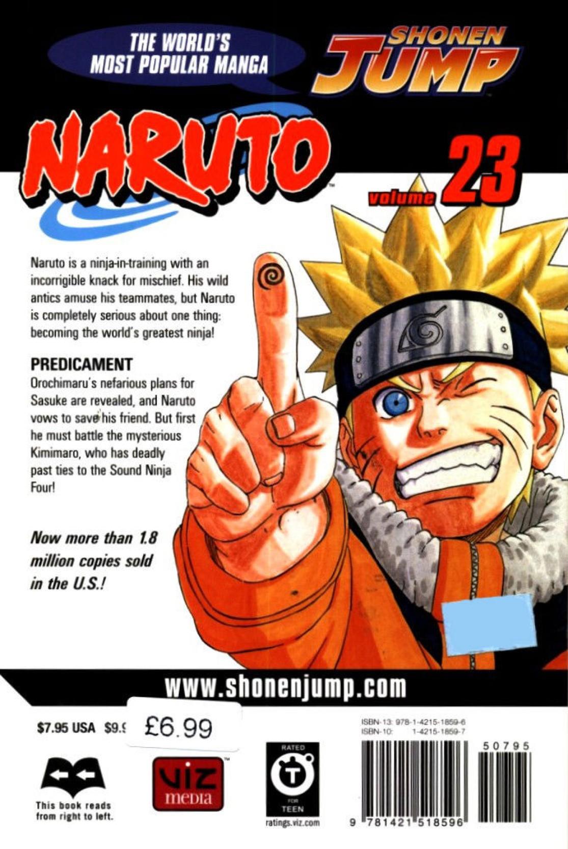 Naruto - Volume 23: Buy Naruto - Volume 23 by Masashi at Low Price