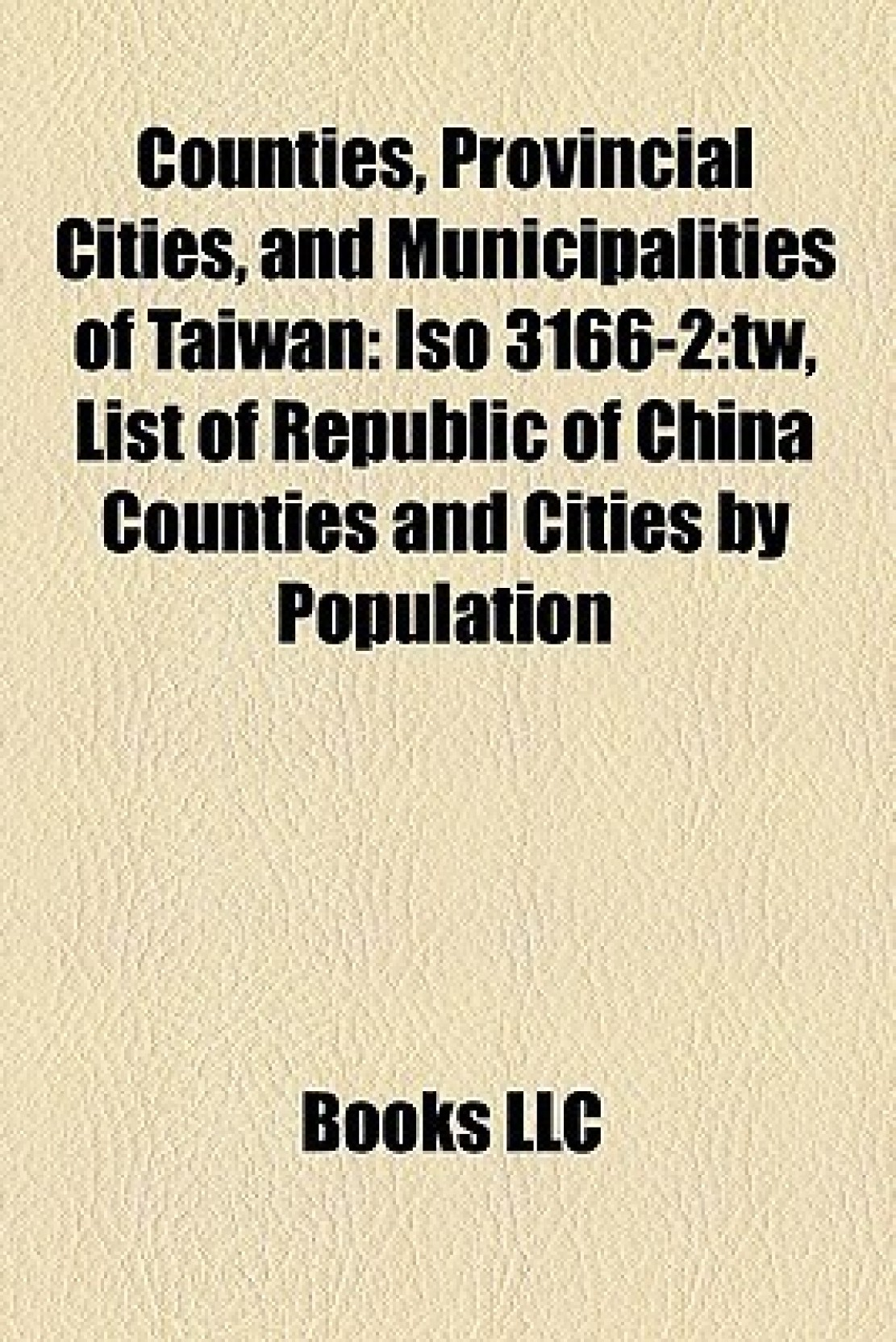 Counties, Provincial Cities, a...