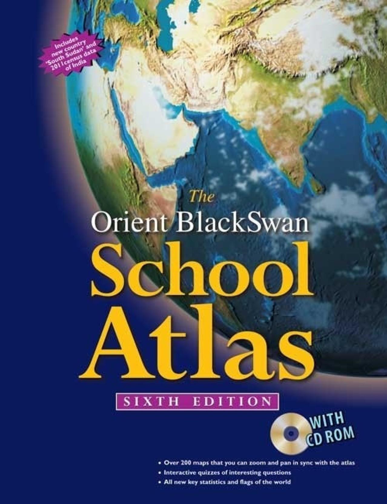 Book Cover Black Flipkart : The orient blackswan school atlas with cd rom th