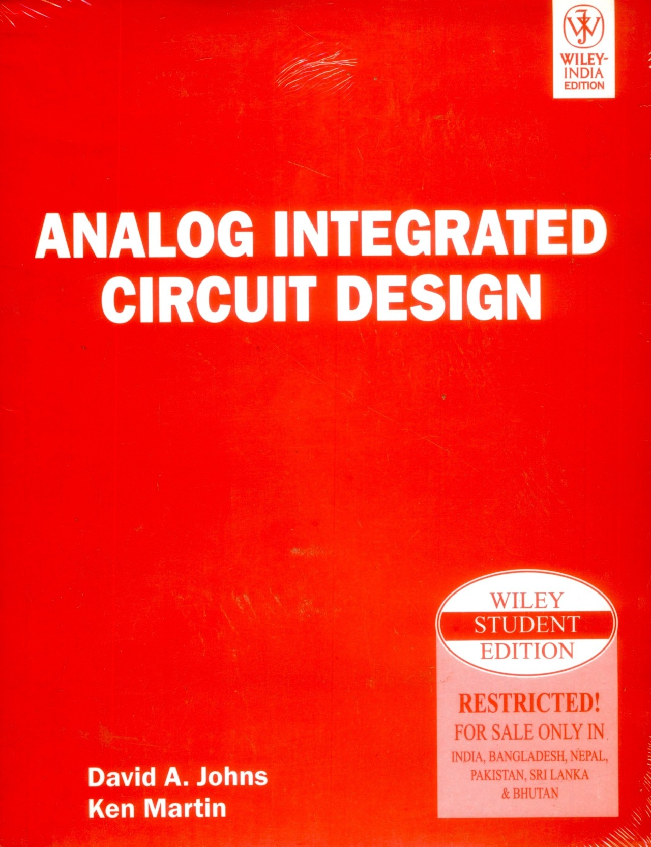 Analog Integrated Circuit Design 1st Edition Buy Digital Circuits Question Bank Home
