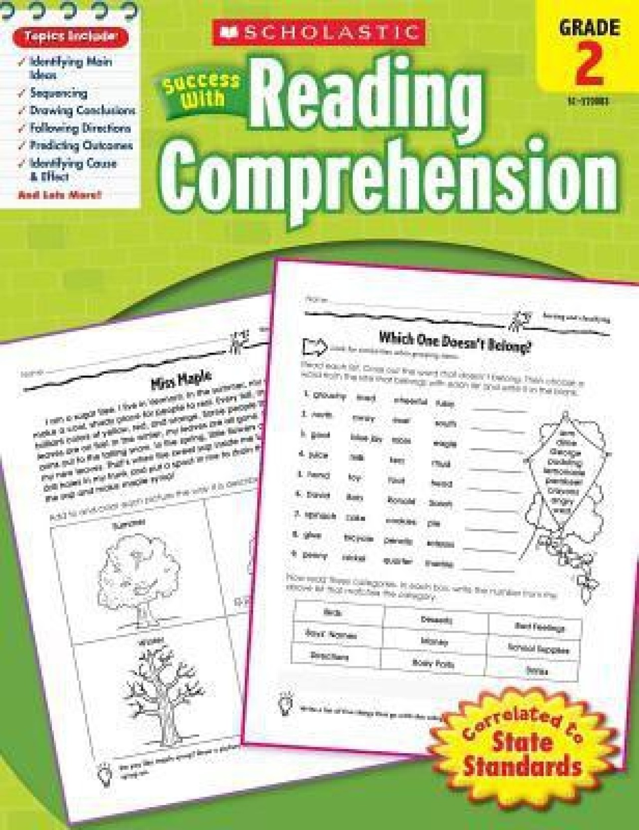 Scholastic Success With Reading Comprehension, Grade 2. ADD TO CART