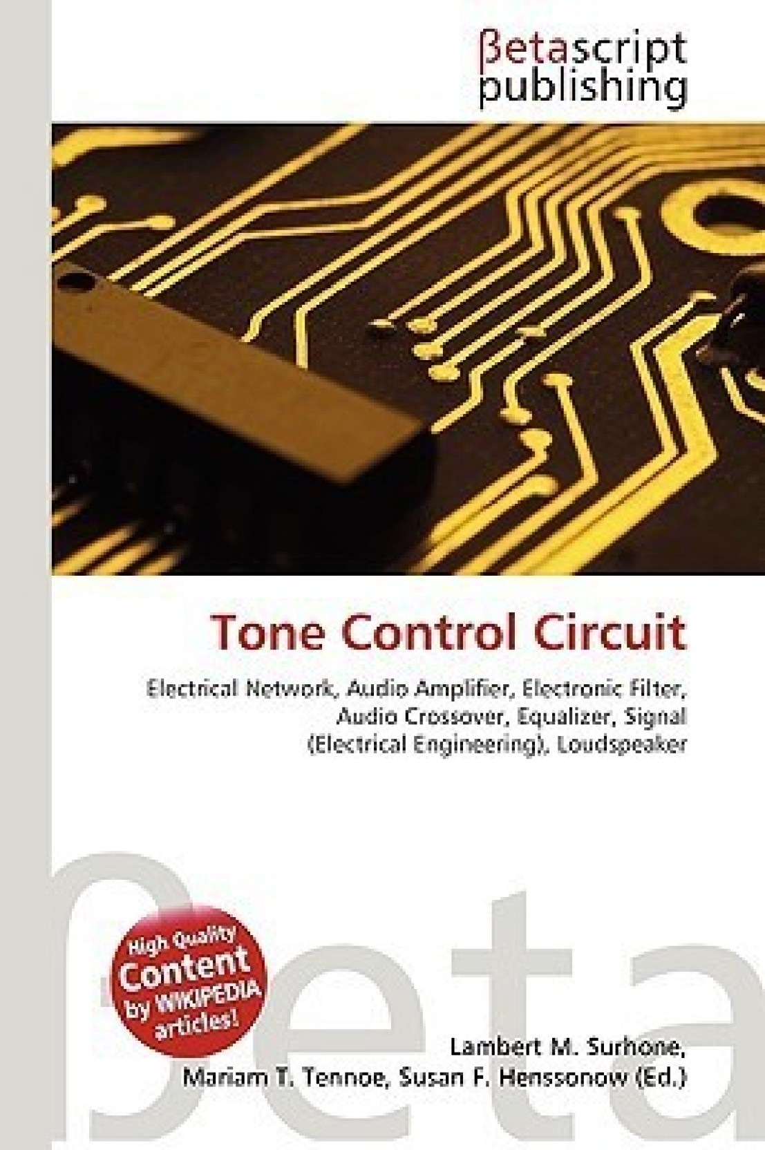 Tone Control Circuit Buy By Surhone Lambert Home