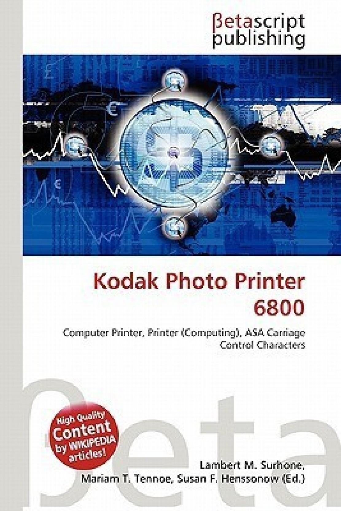 Kodak Photo Printer 6800 Buy By Lambert M Paper Kit 605 Share