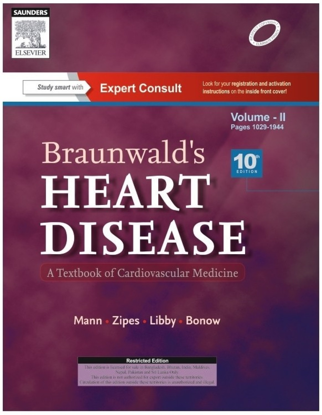 Braunwald's Heart Disease : A Textbook of Cardiovascular Medicine (Set of 2  Volumes) 10th. ON OFFER