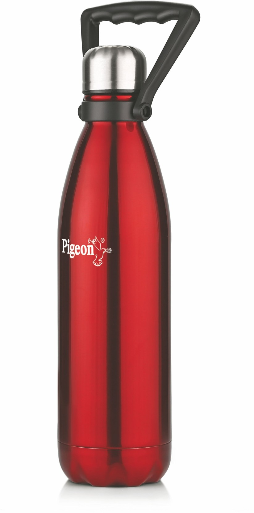 0d6570b43 Pigeon PIGEON Stainless steel WATER BOTTLE AQUA (WITH HANDLE)- 750 ML (RED) 750  ml Bottle (Pack of 1
