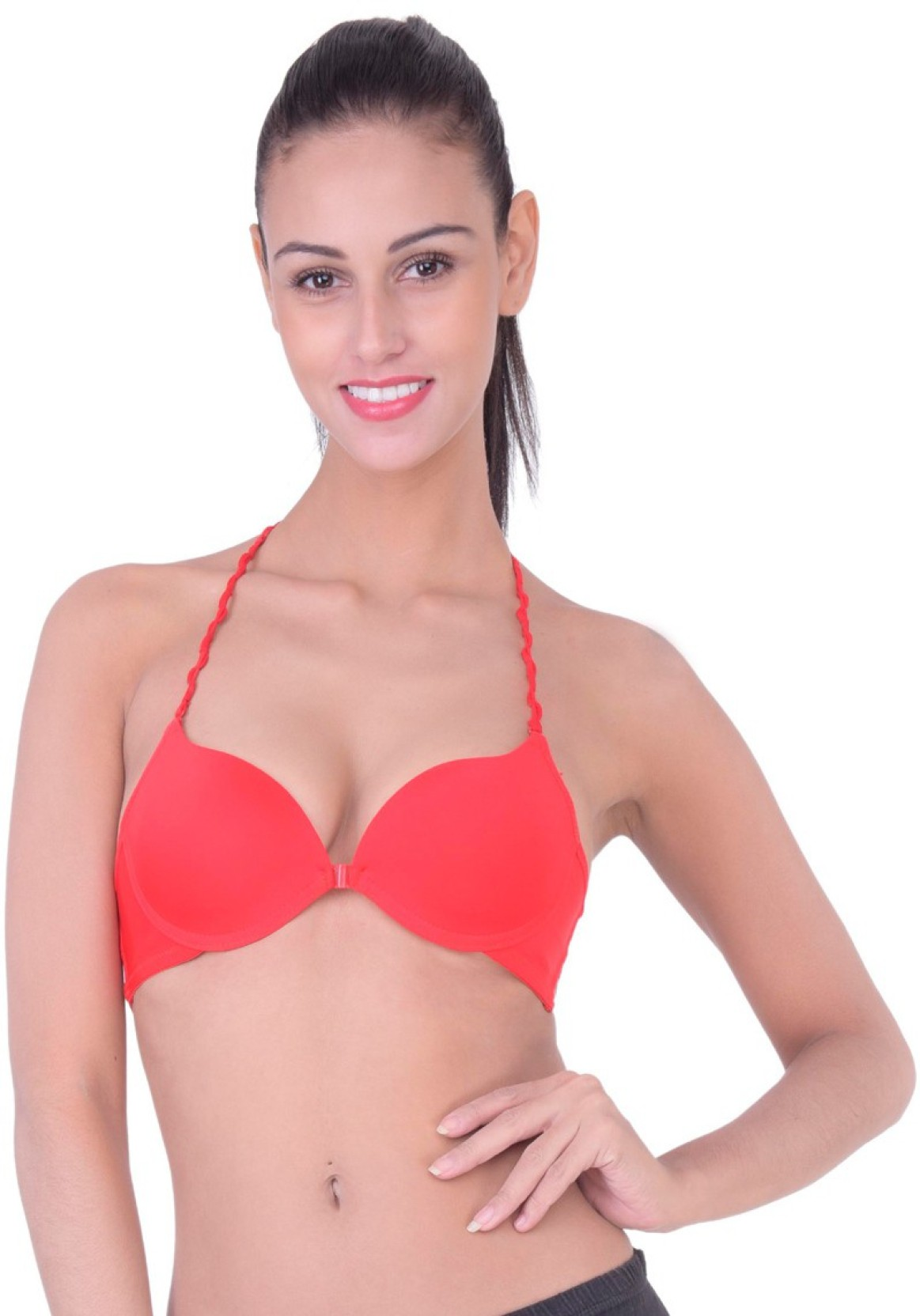7e6bd2ded6 PrivateLifes Women s Push-up Lightly Padded Bra - Buy Red ...