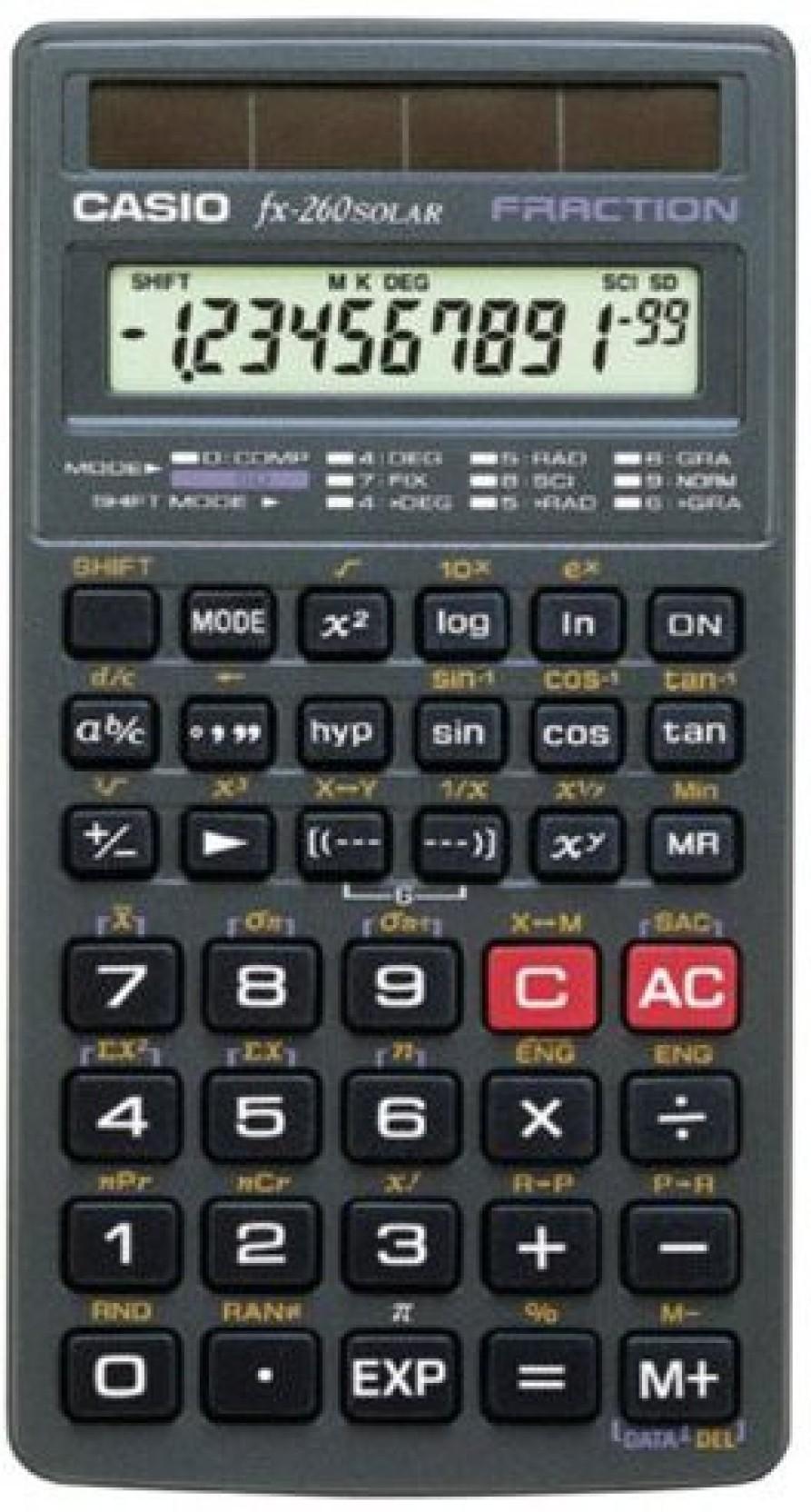 Qoo10 casio fx-260 solar scientific calculator all-purpose.