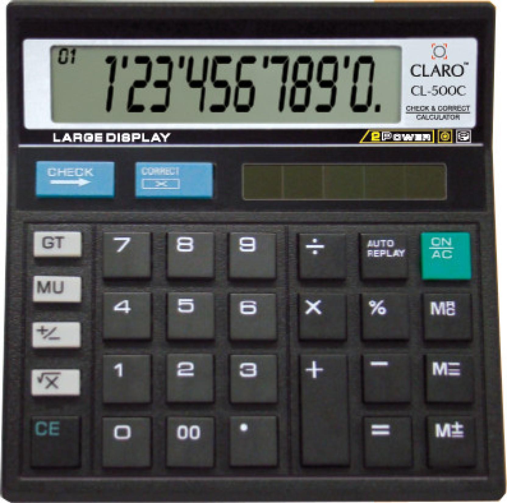 Claro Cl 500c Basic Calculator 10 Digit