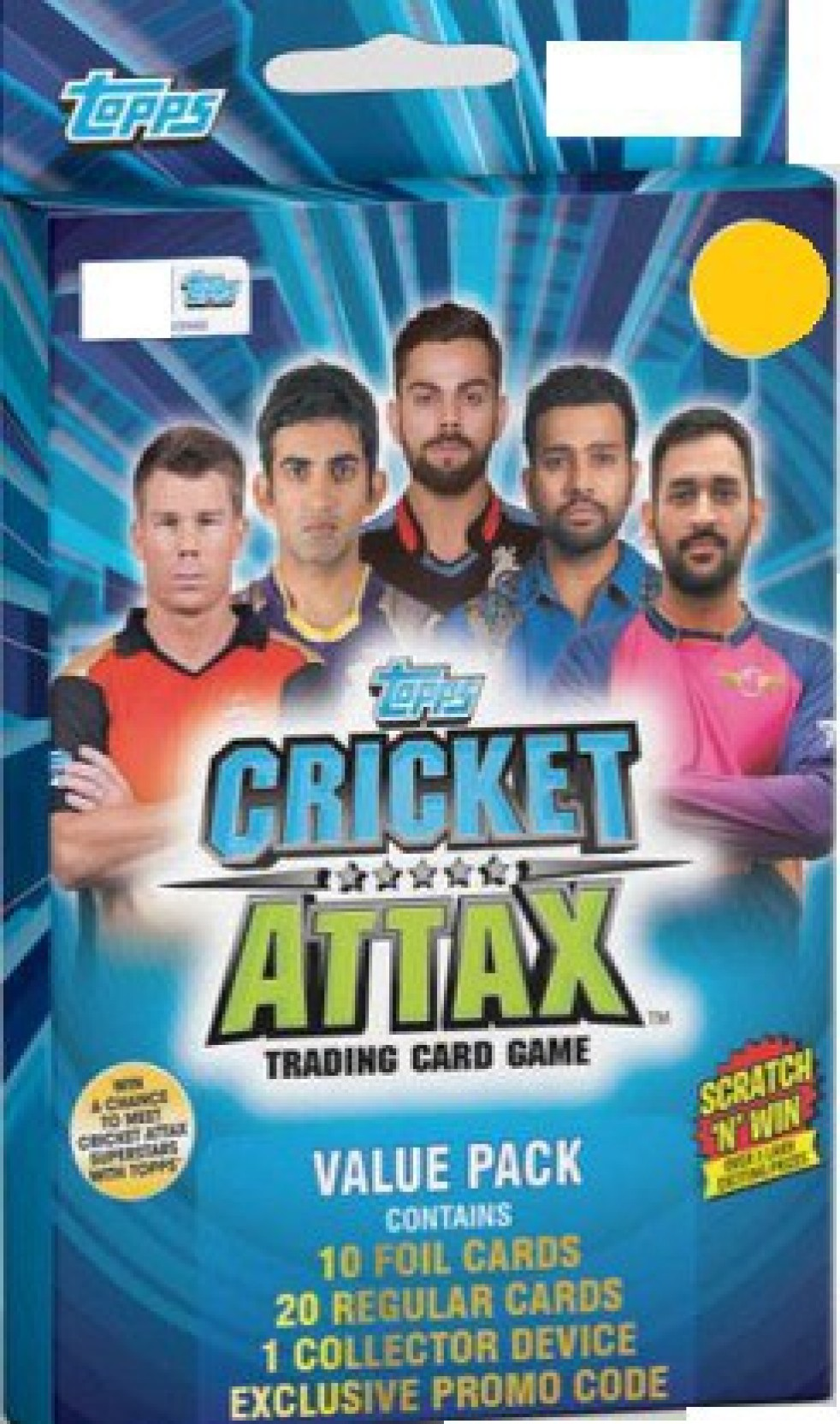 Topps India Cricket Attax 2017 18 Value Pack 2set