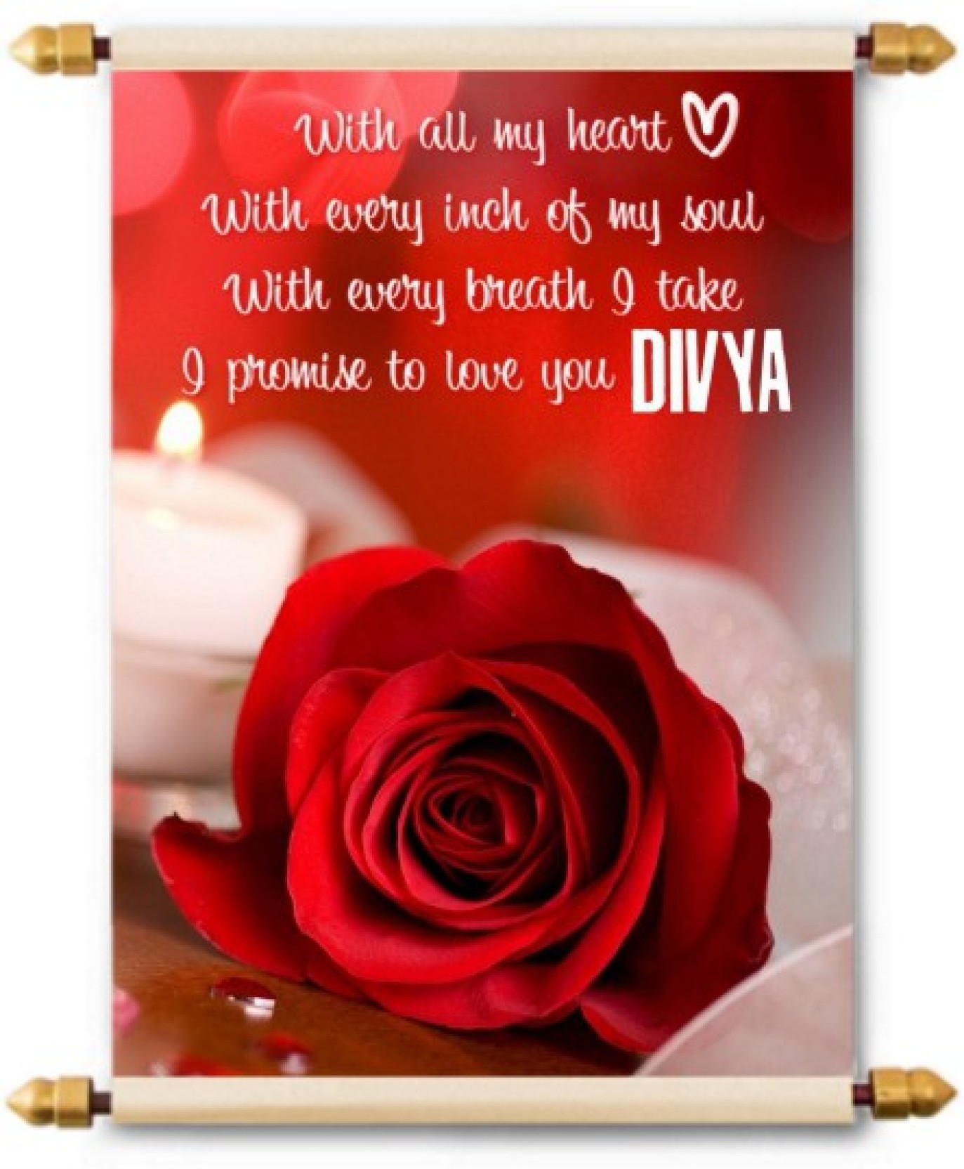 Lolprint I Love You Divya Scroll Greeting Card Price In India Buy