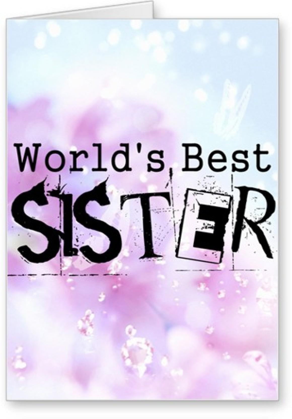 Lolprint Worlds Best Sister Rakhi Greeting Card Price In India