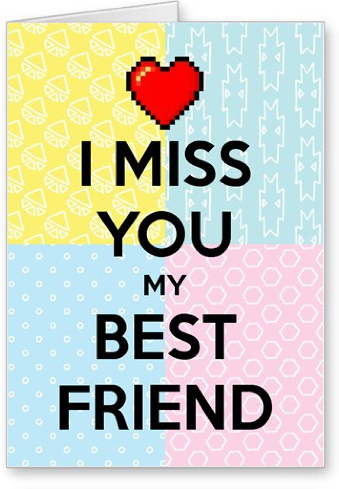 Lolprint Miss You Friendship Day Greeting Card Price In India Buy