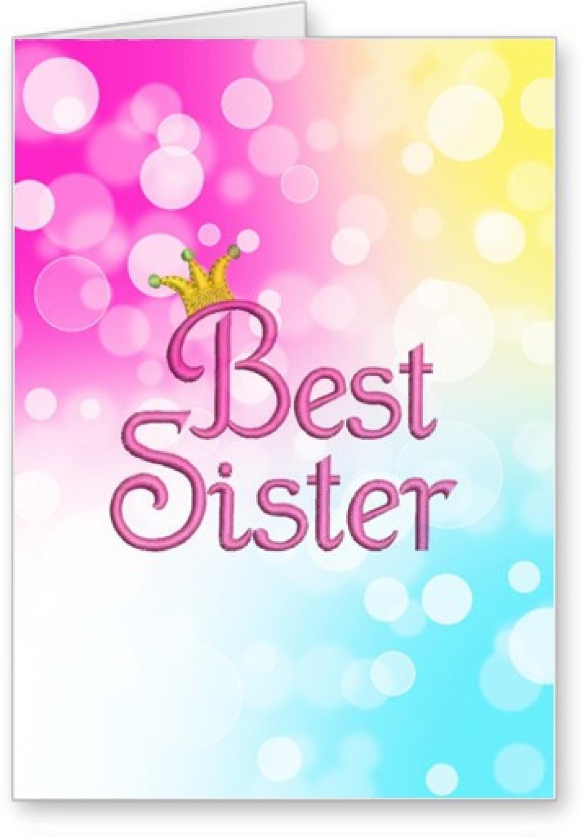 Lolprint Best Sister Rakhi Greeting Card Price In India Buy