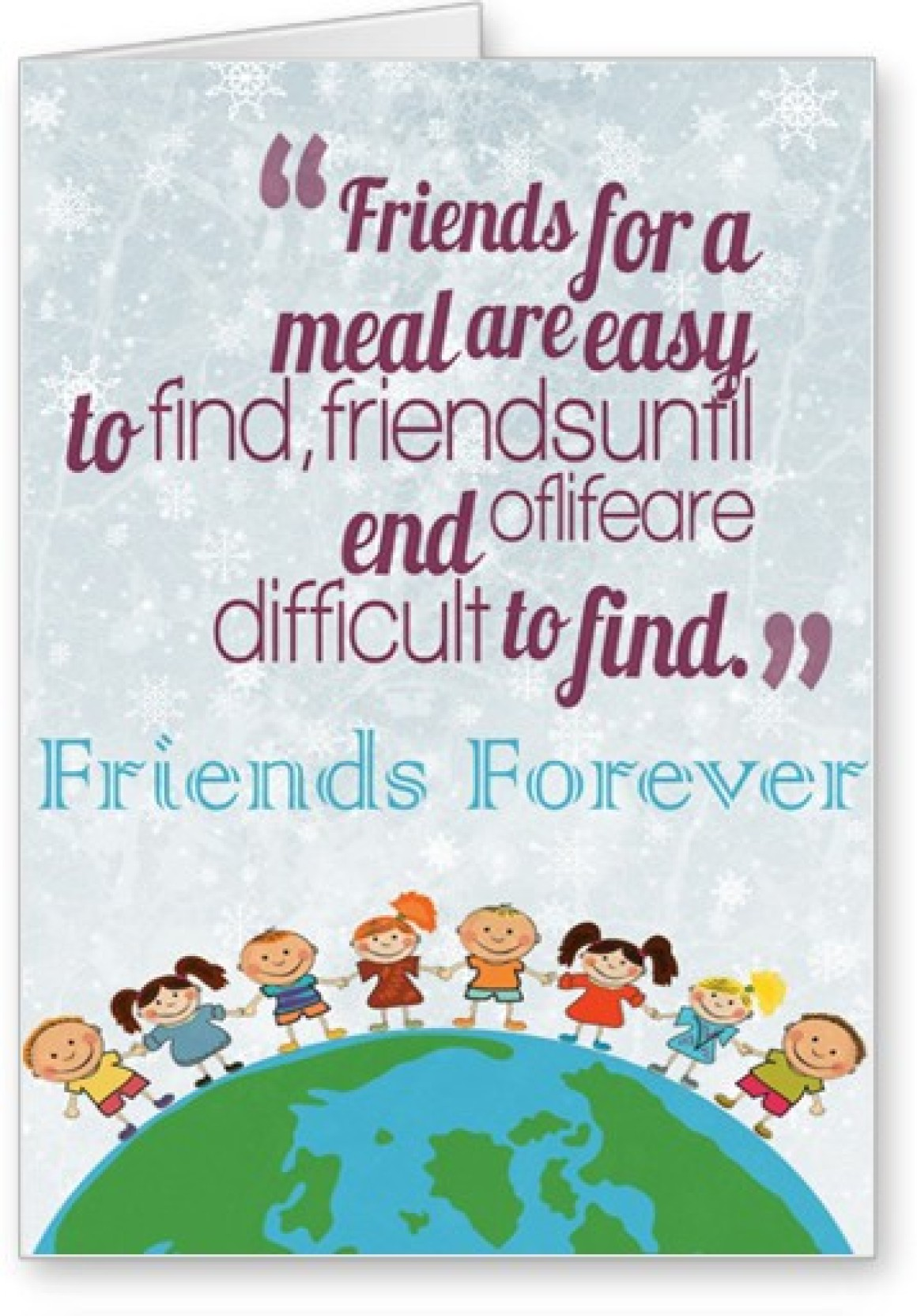 Lolprint Friends Forever Friendship Day Greeting Card Price In India