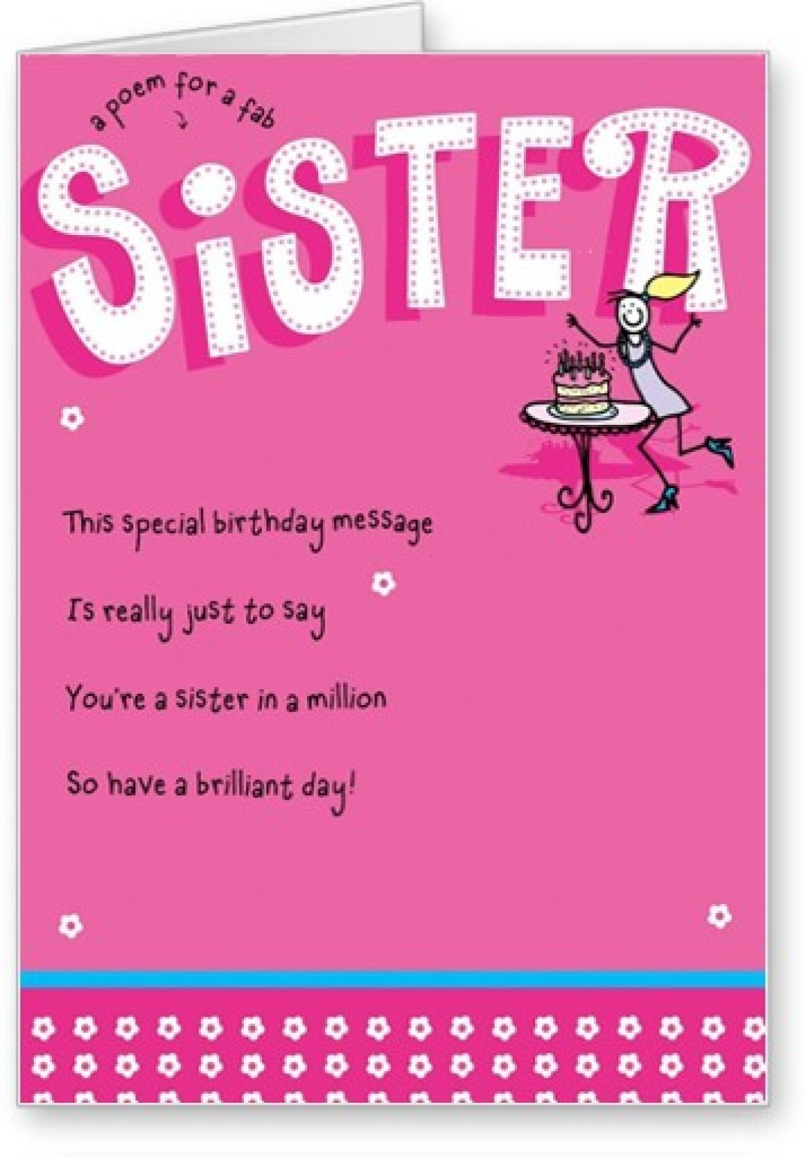 Lolprint Happy Birthday Sister Poem Greeting Card Price In India