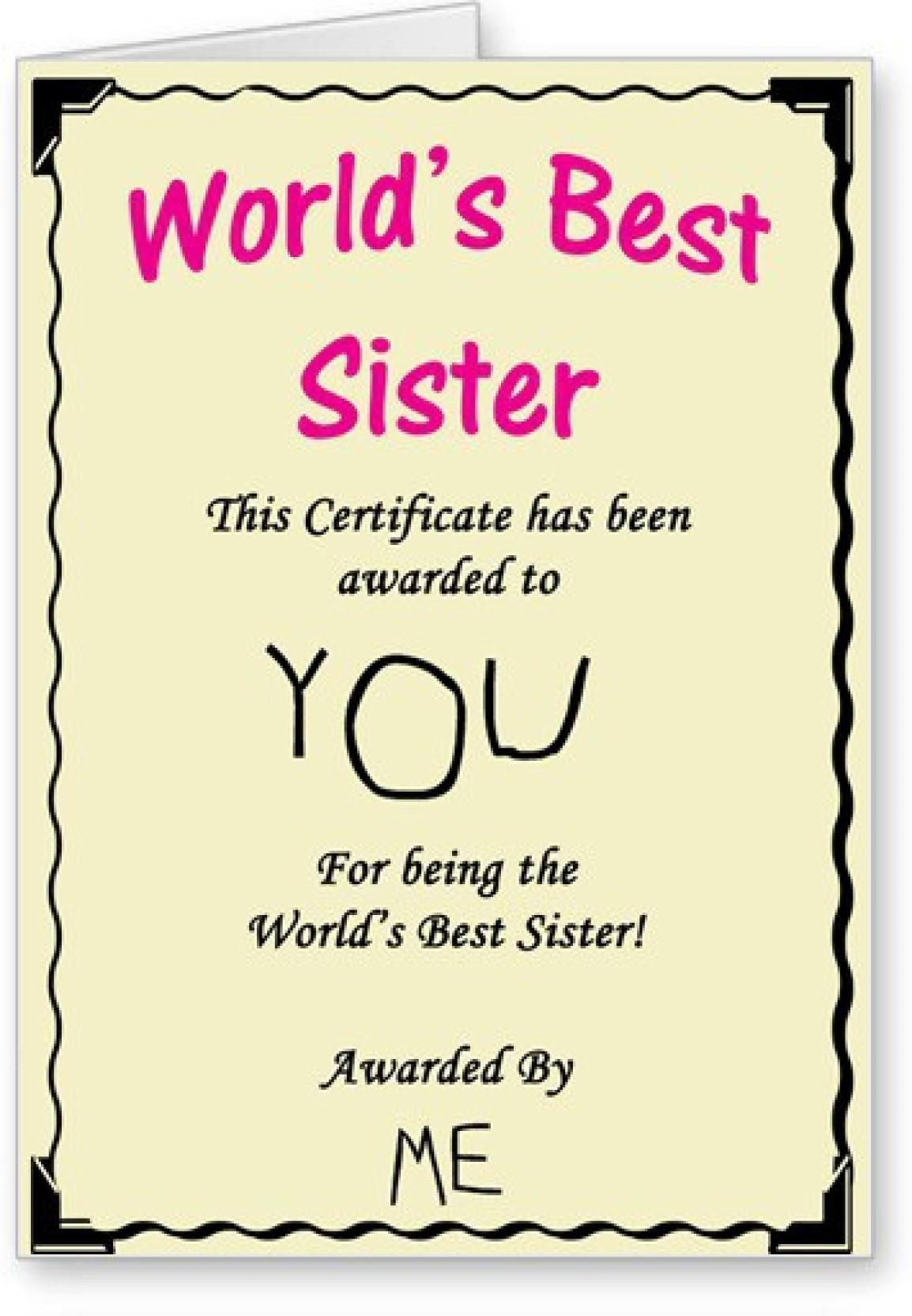 Lolprint Worlds Best Sister Certificate Rakhi Greeting Card Price