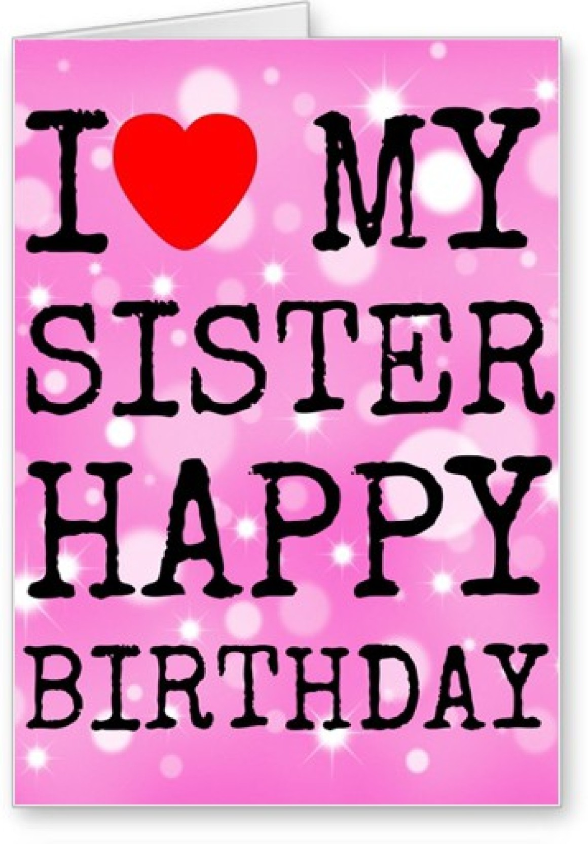 Lolprint I Love My Sister Happy Birthday Greeting Card Price In
