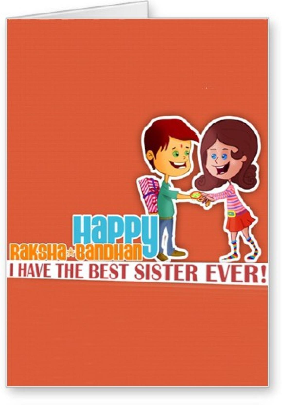 Lolprint Best Sister Ever Raksha Bandhan Greeting Card Price In