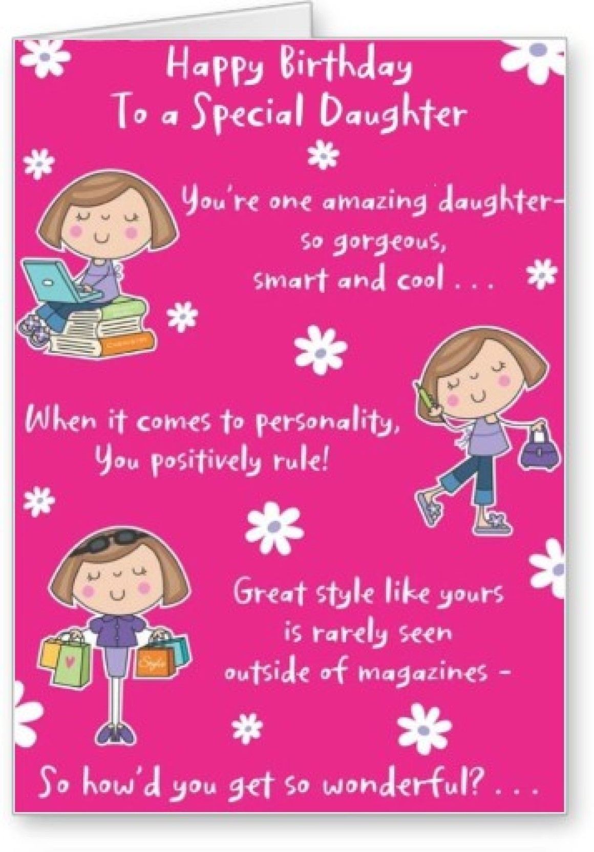 Lolprint Special Daughter Happy Birthday Greeting Card Multicolor Pack Of 1