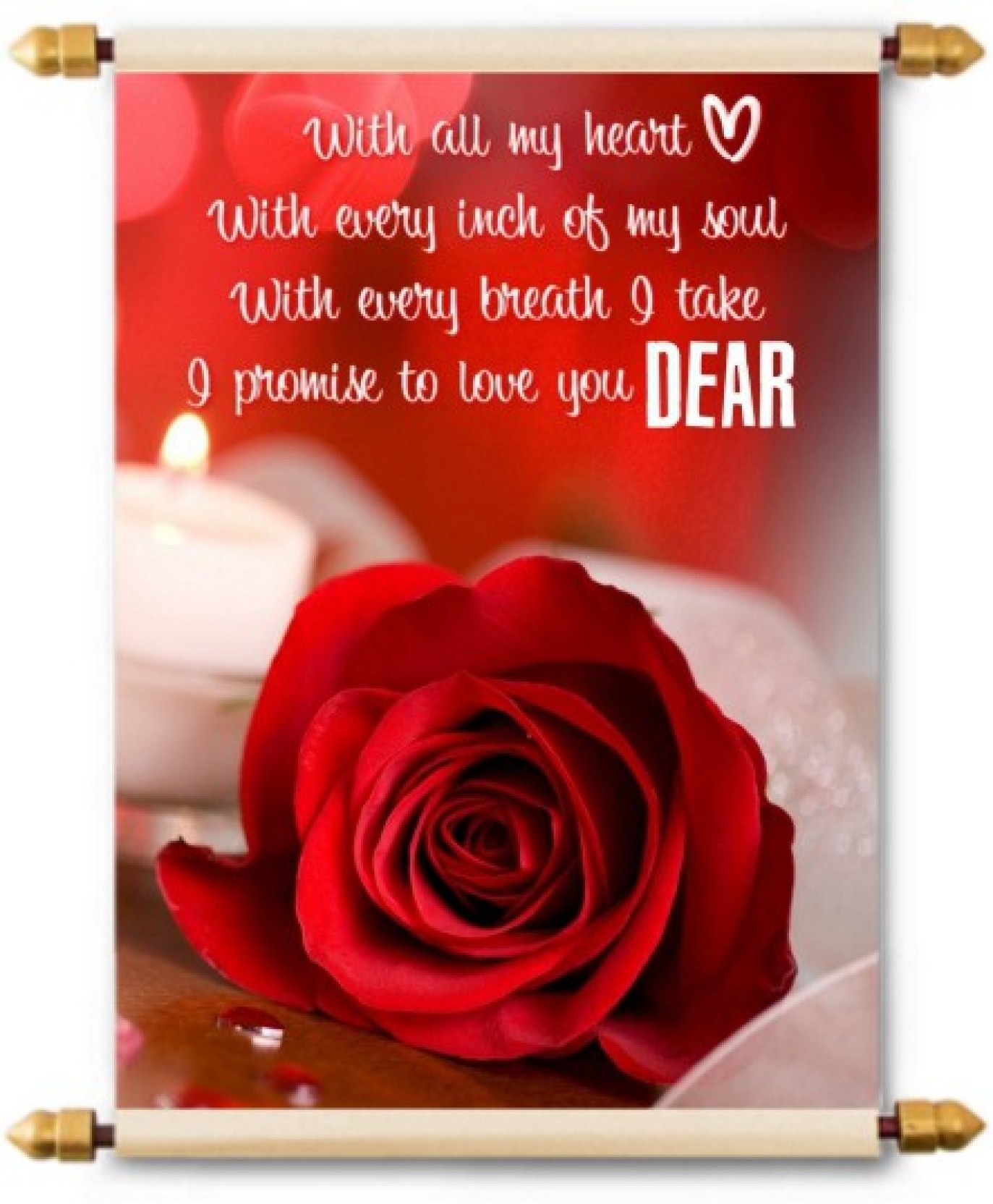 Lolprint I Love You Dear Scroll Greeting Card Price In India Buy