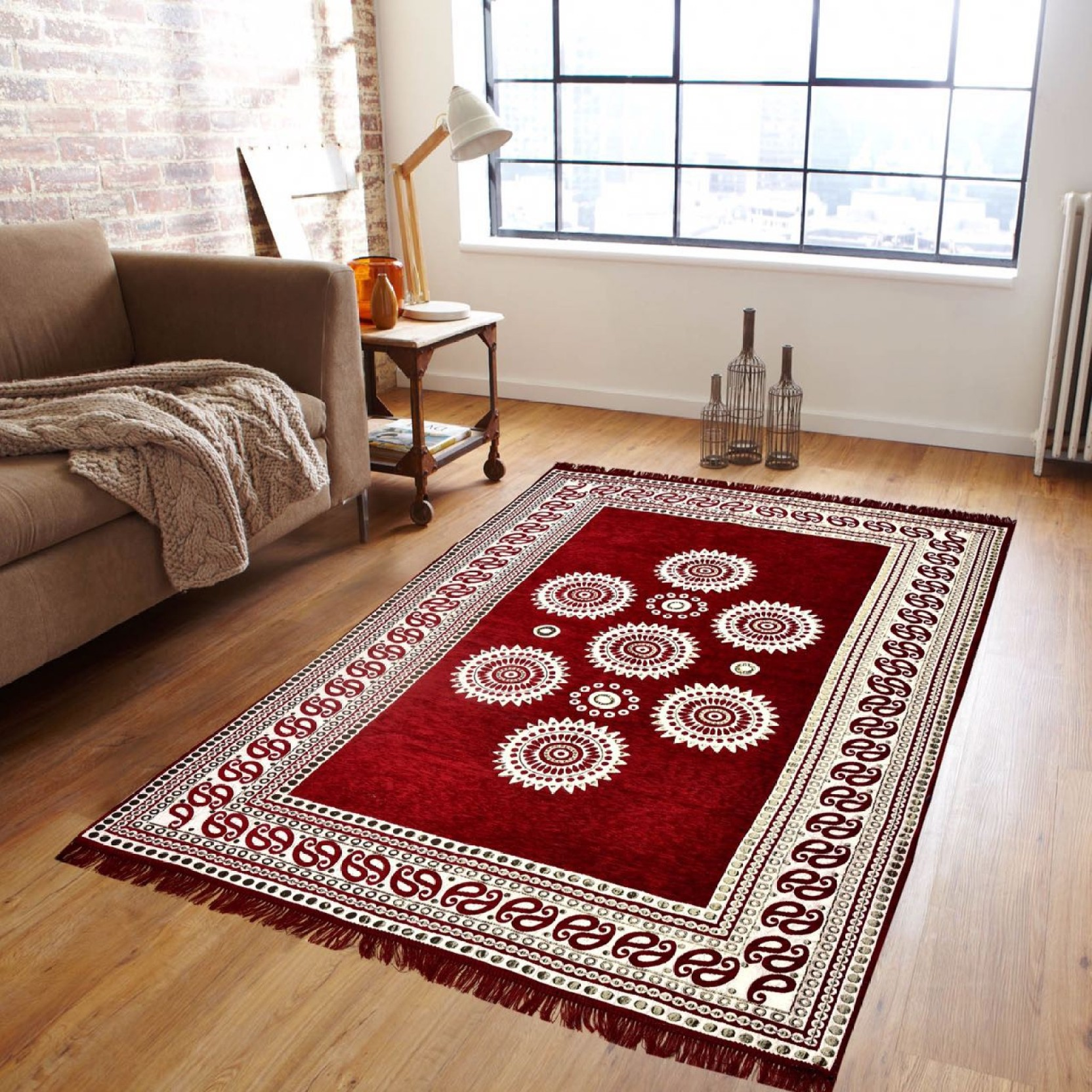 Zesture multicolor chenille area rug buy zesture for Best place to buy rugs online
