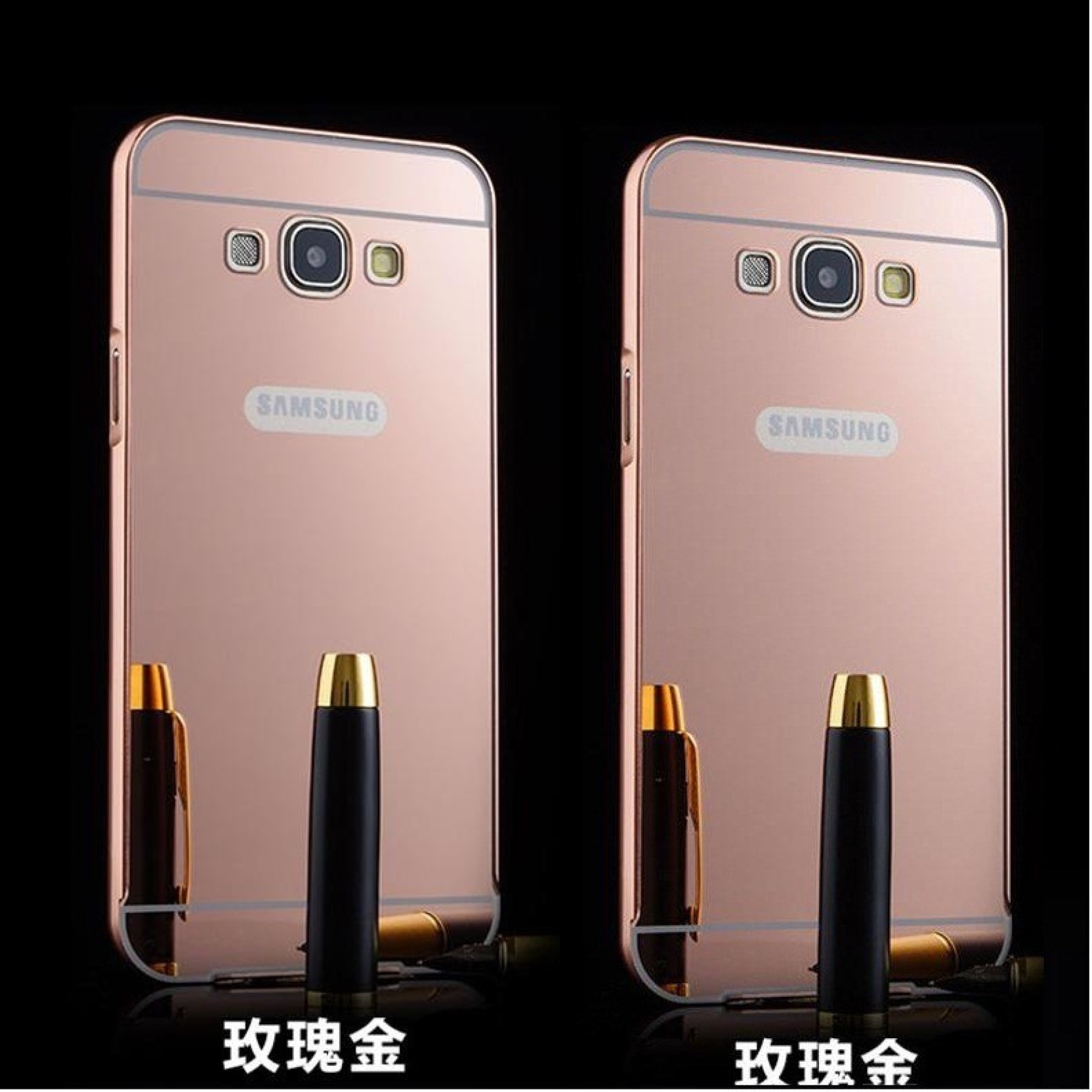 Sma Back Cover For Samsung Galaxy On7 Metal Bumper Plus Acrylic Note 4 Mirror Backcase With Aluminium Black Case Share