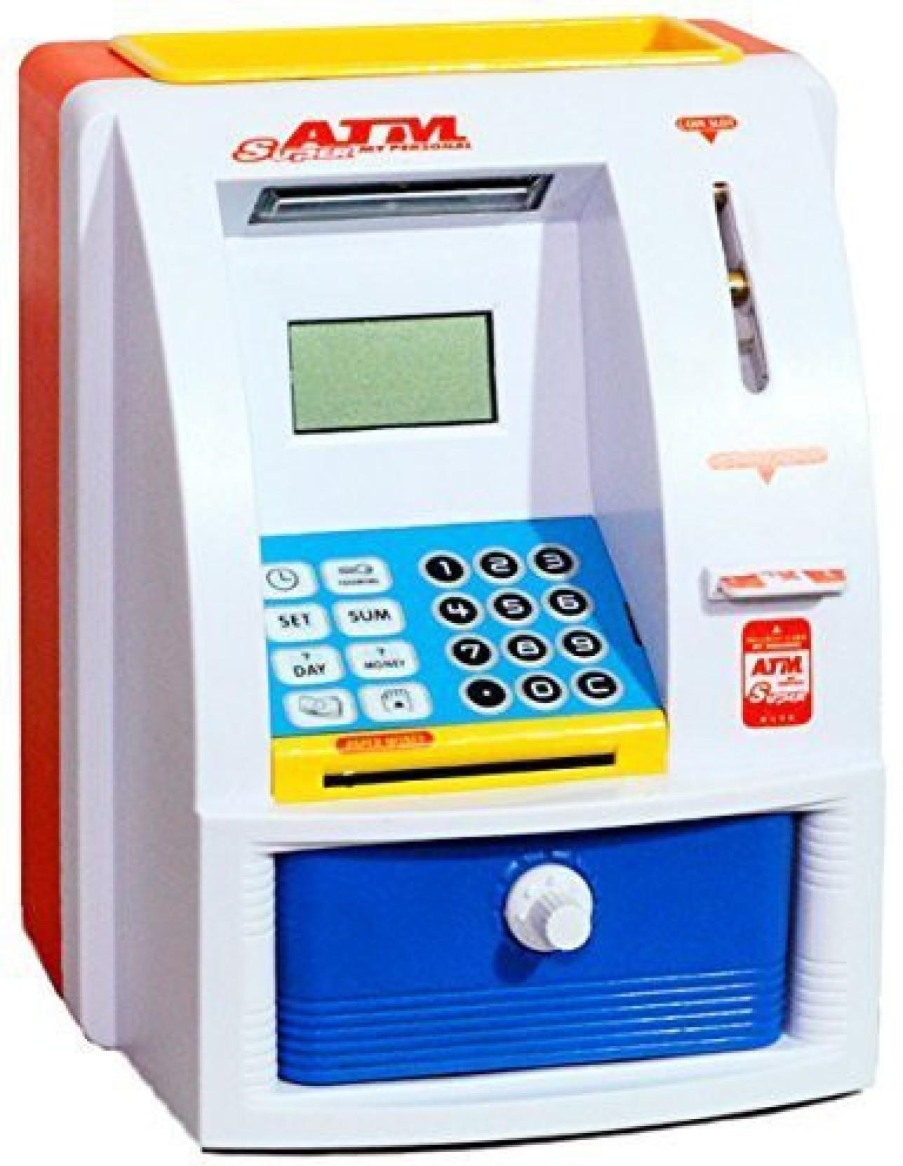 Krypton atm machine for kids with secret code electronic for Secret piggy bank