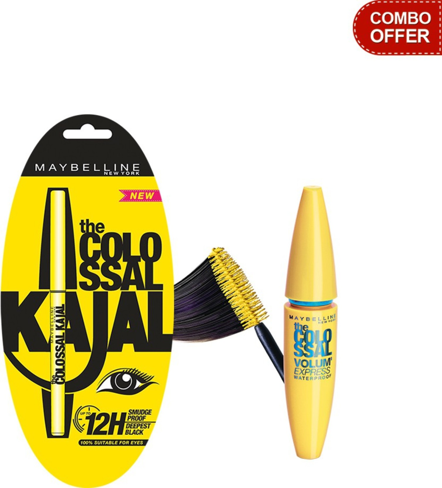 Maybelline The Colossal Kajal With Volum Express Waterproof Barbie Mascara Magnum Share