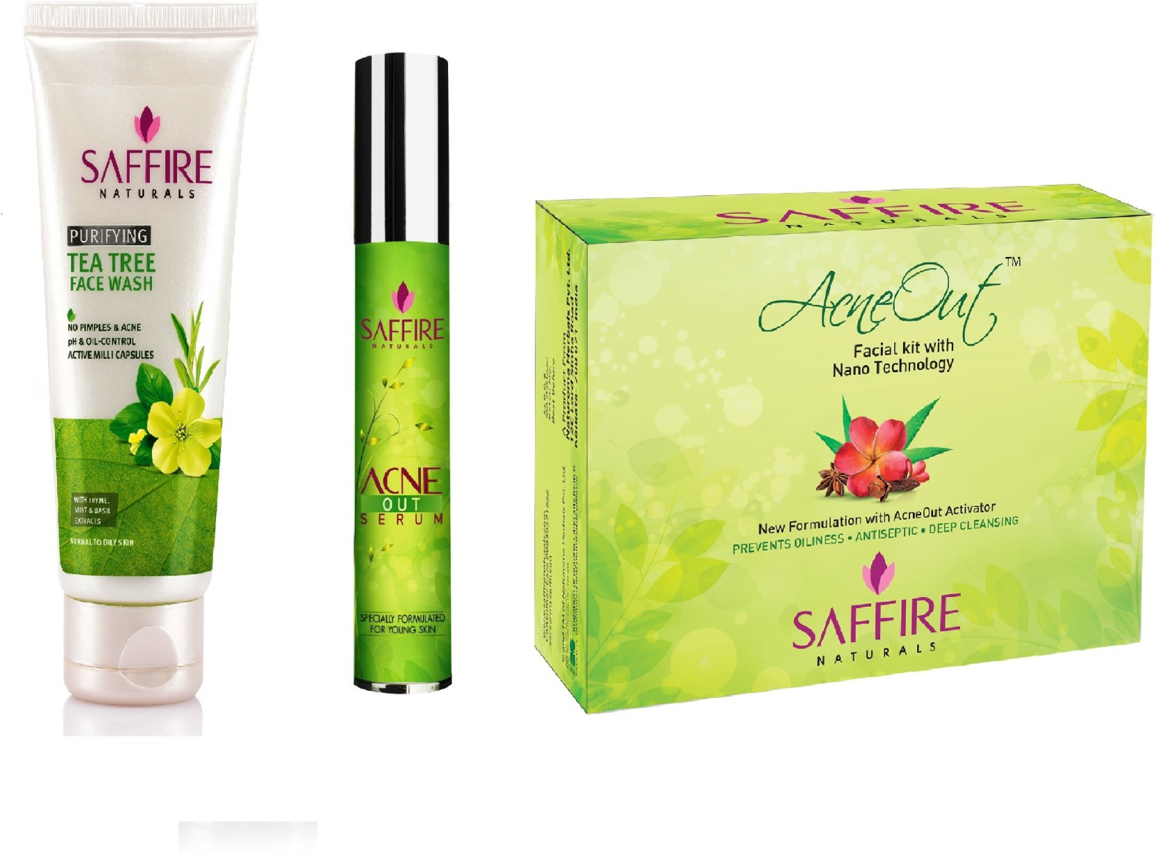 Saffire Acne Care Kit Price In India Buy Dr Pure Serum Pimple Cream On Offer