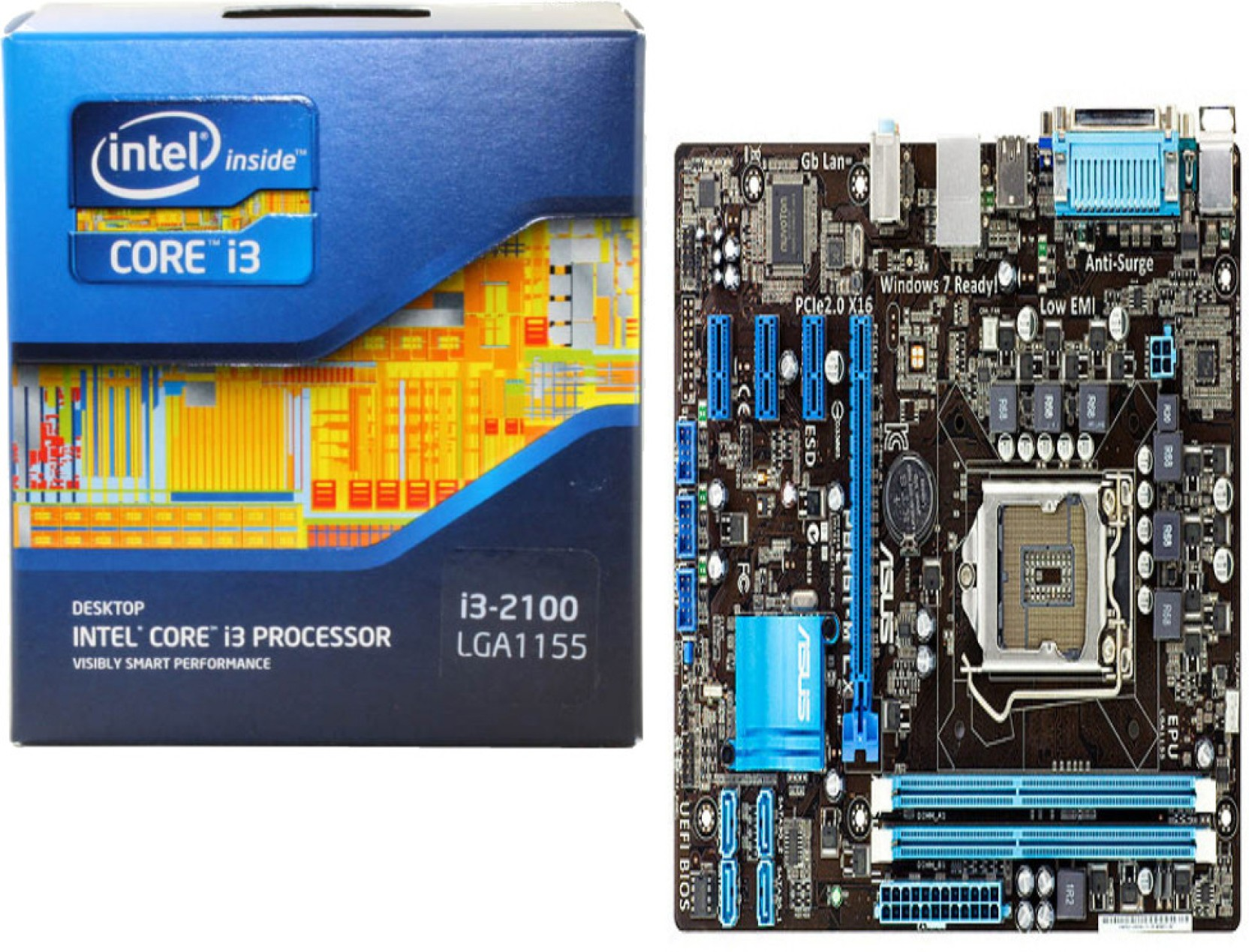 Intel Asus 31 Ghz Fclga1155 Core I3 2100 Processor And Electric Circuit Board Tshirt Share