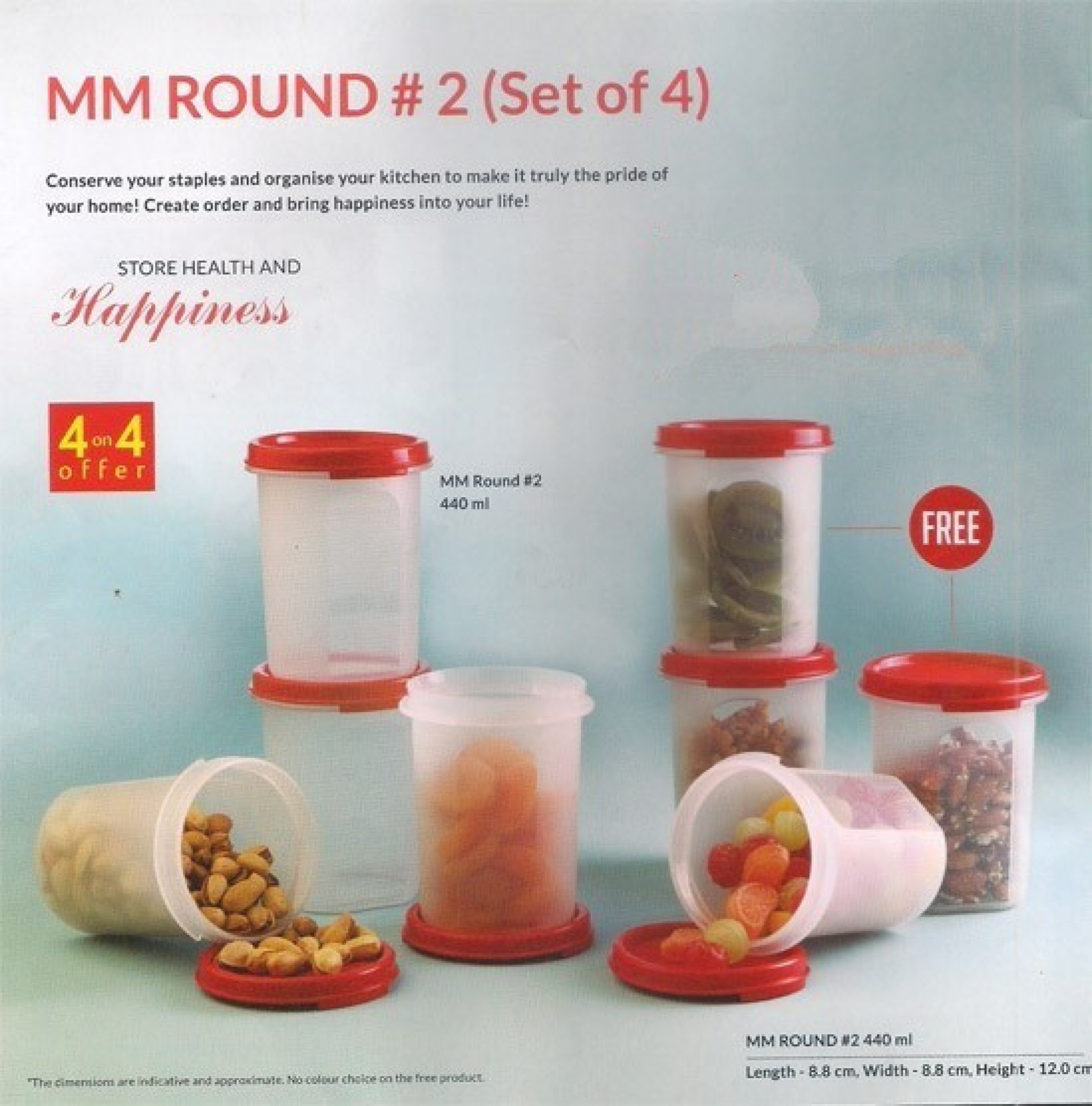 Tupperware - 440 ml Plastic Grocery Container Price in India - Buy ...