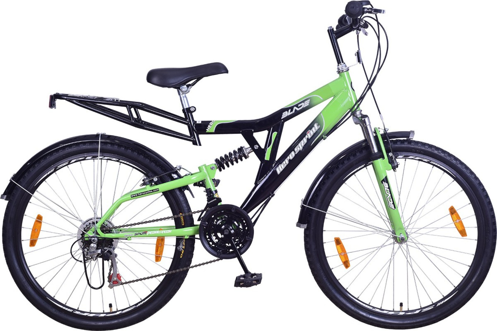 Hero Blade 26T S365BBDBD02 Hybrid Cycle (Green, Black)