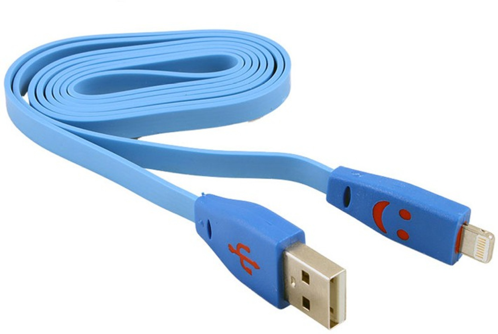 Cellista High Speed Data Cable Flat Wire With LED For iPhone 5 USB ...